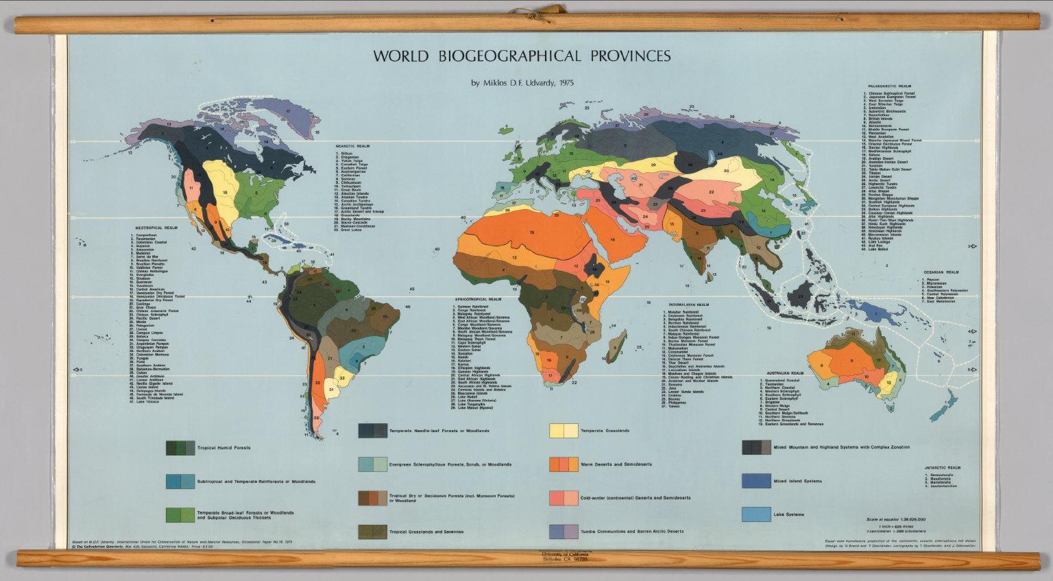 World -- Biogeographical Provinces