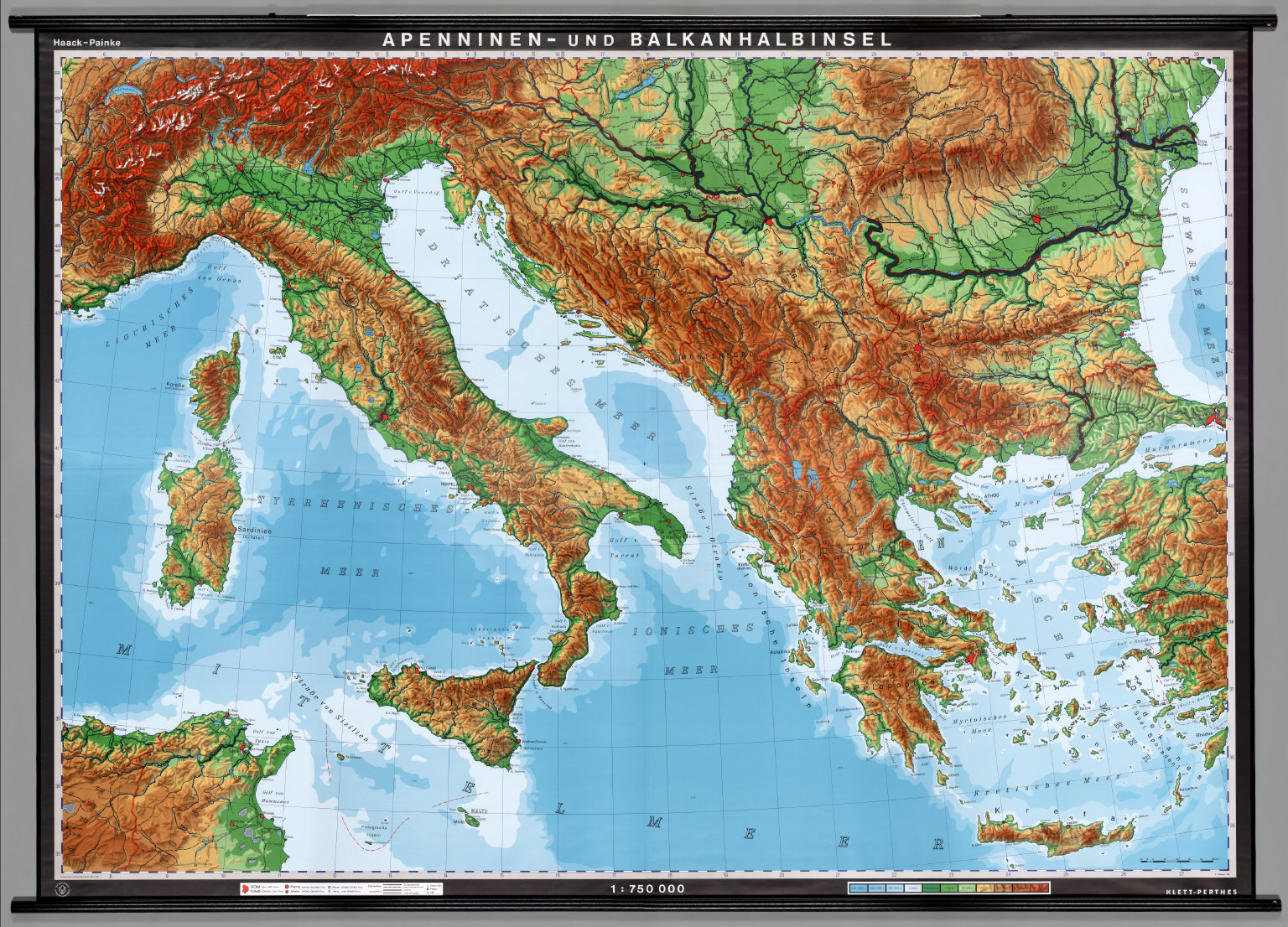 Topographic Map Italy.Italy And The Balkans Physical David Rumsey Historical Map