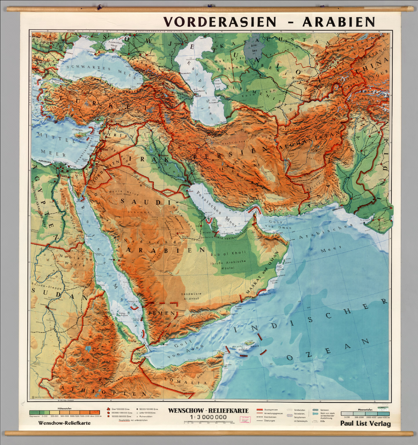 Southwest Asia -- Physical - David Rumsey Historical Map Collection