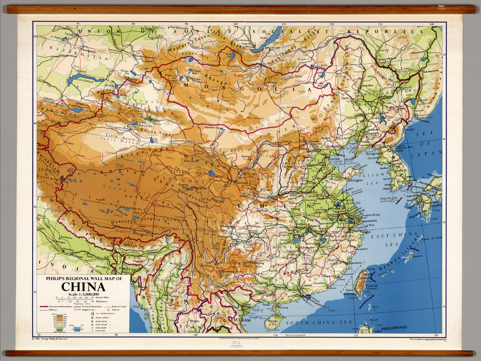 China Physical Political David Rumsey Historical Map Collection