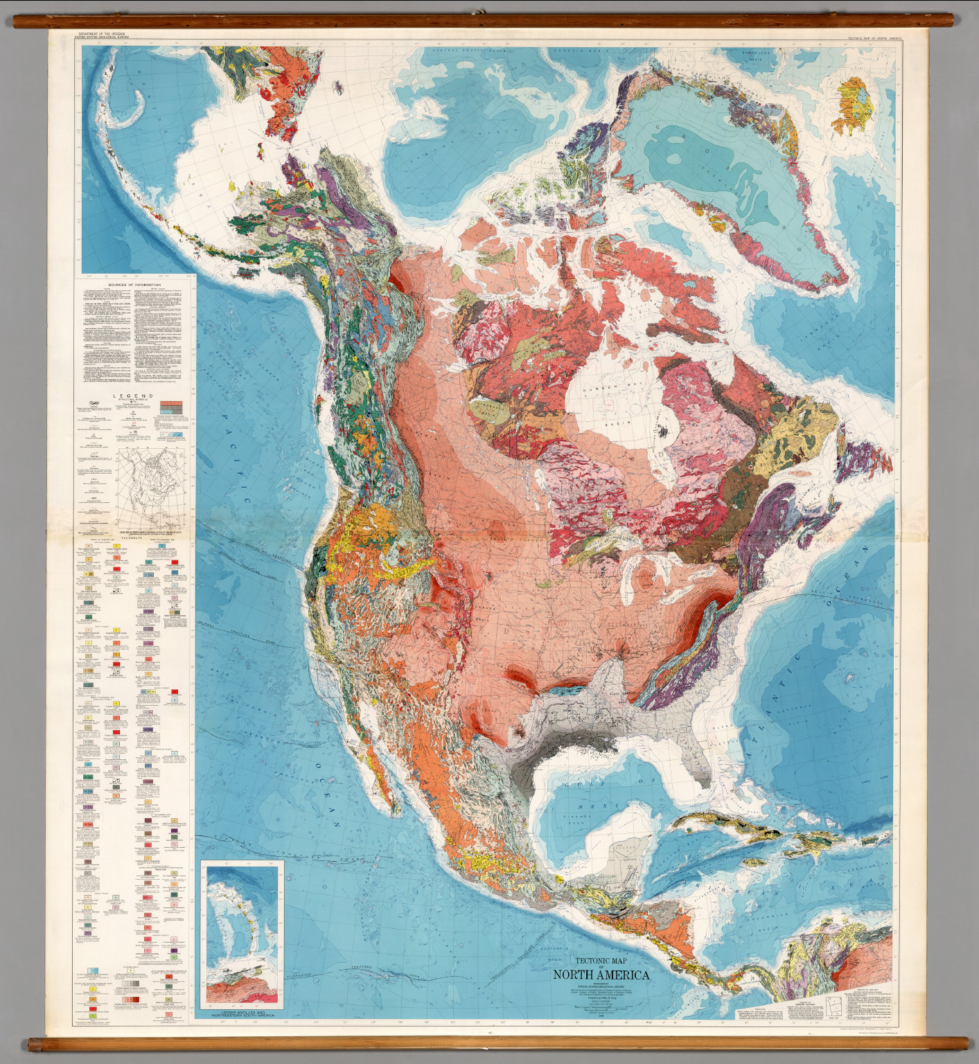 North America Tectonics David Rumsey Historical Map Collection