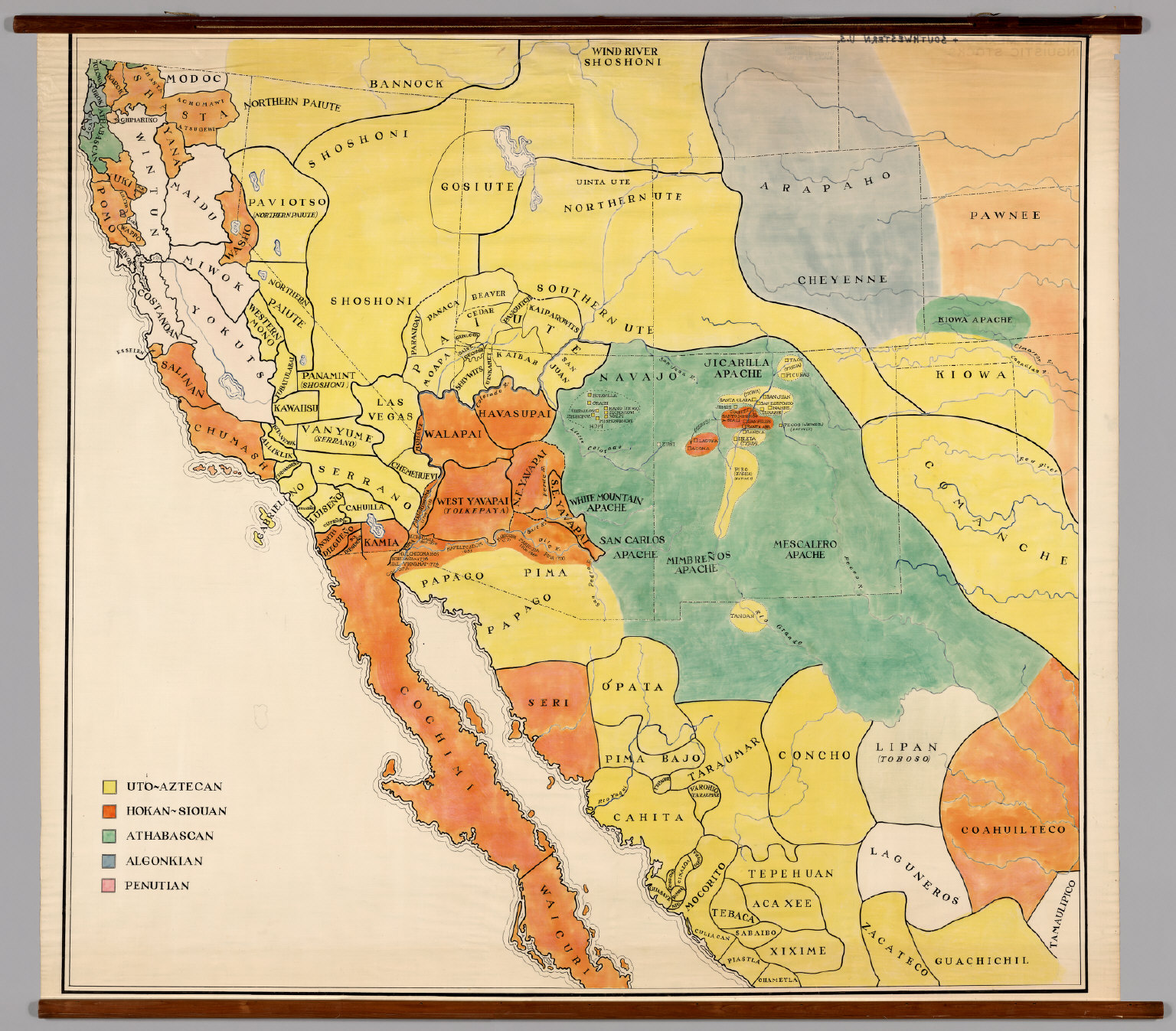 Southwestern United States & Northern Mexico -- Linguistic Stocks ...