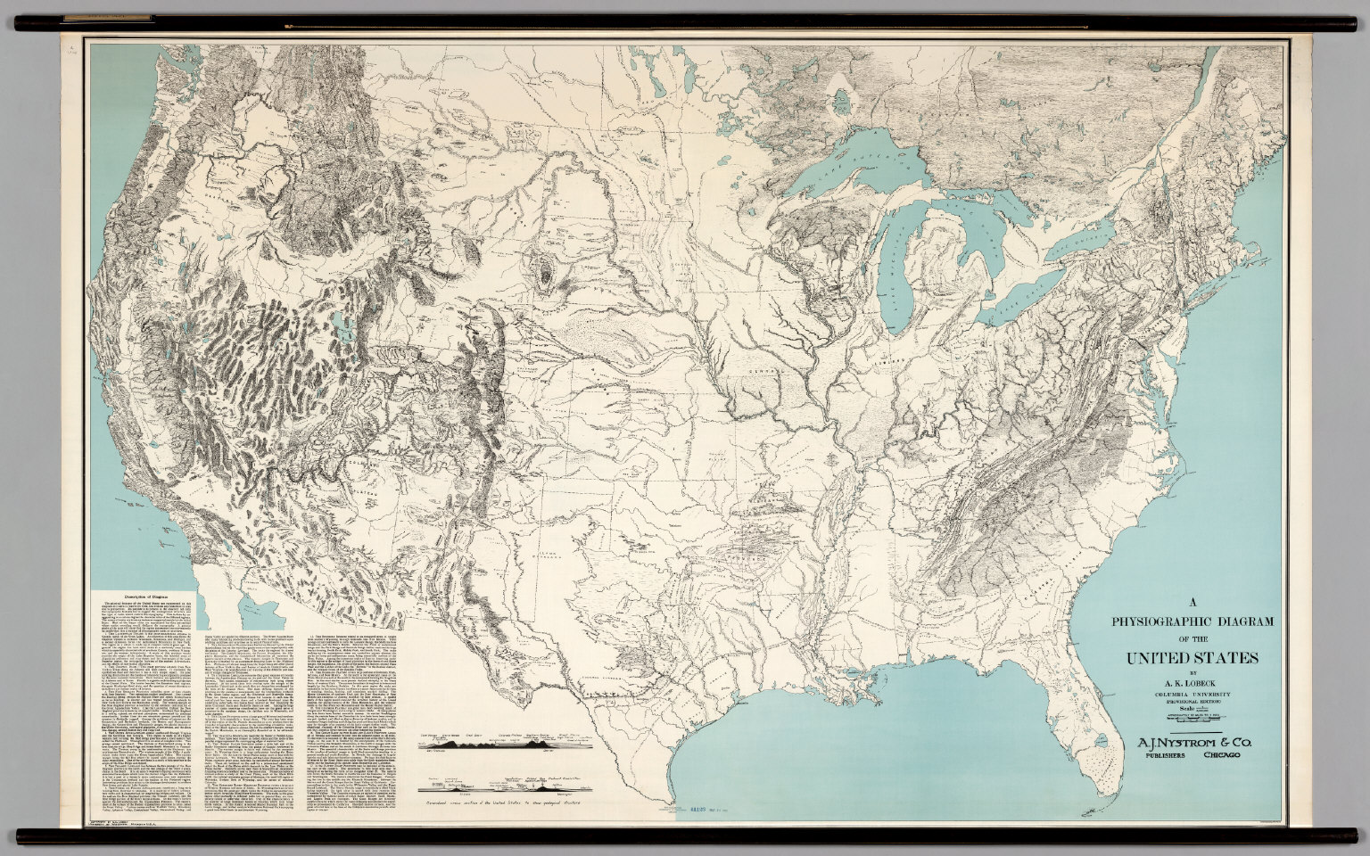 United States -- Physiographic Diagram (Lobeck)
