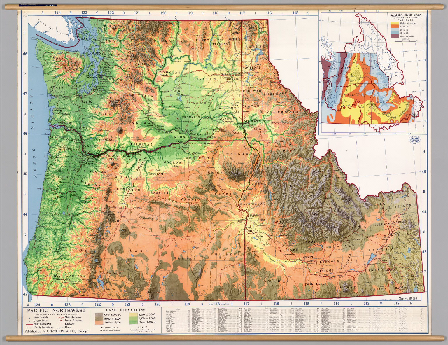 Northwest United States -- Physical - David Rumsey Historical Map ...