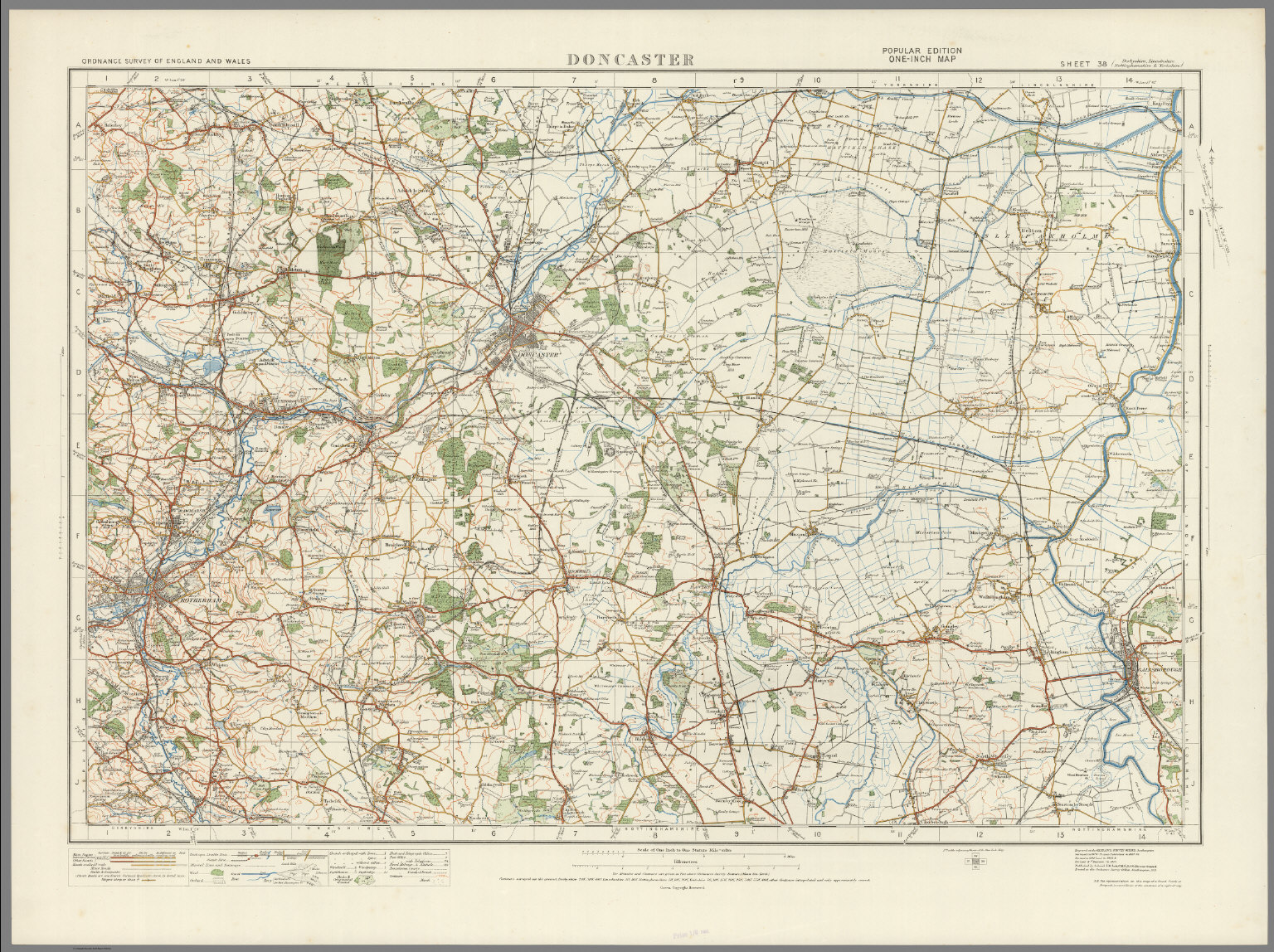 Sheet 38. Doncaster. - David Rumsey Historical Map Collection