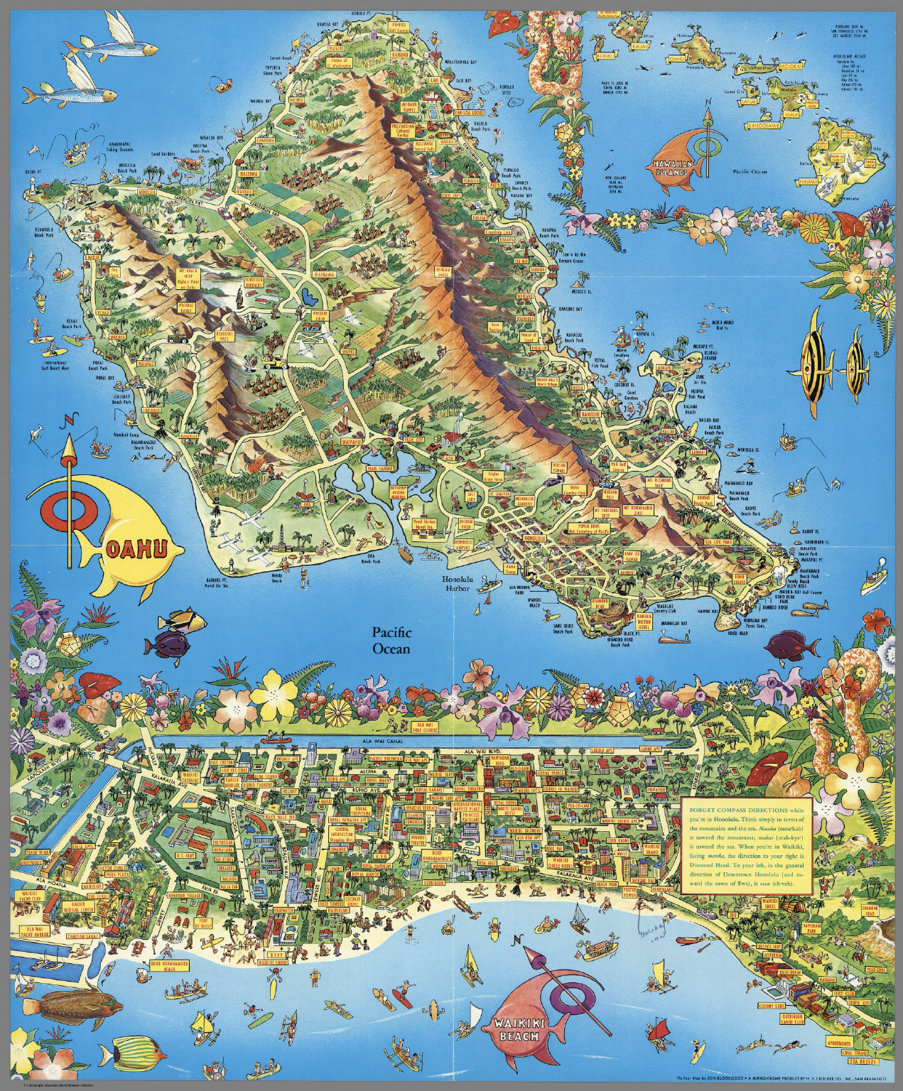 photo regarding Printable Map of Oahu named A Pic-Excursion Map. Honolulu, Waikiki and Spherical the Isle of