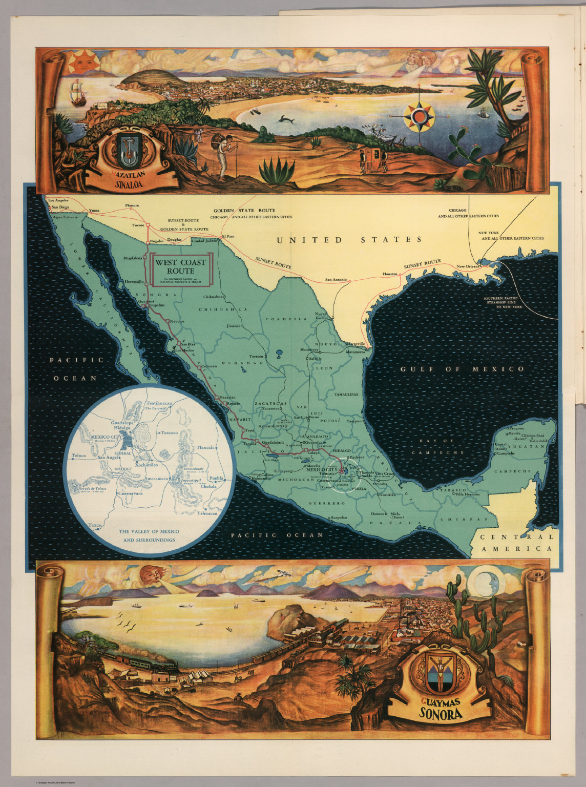 Mexico Views Azatlan Sinaloa And Guaymas Sonora David Rumsey