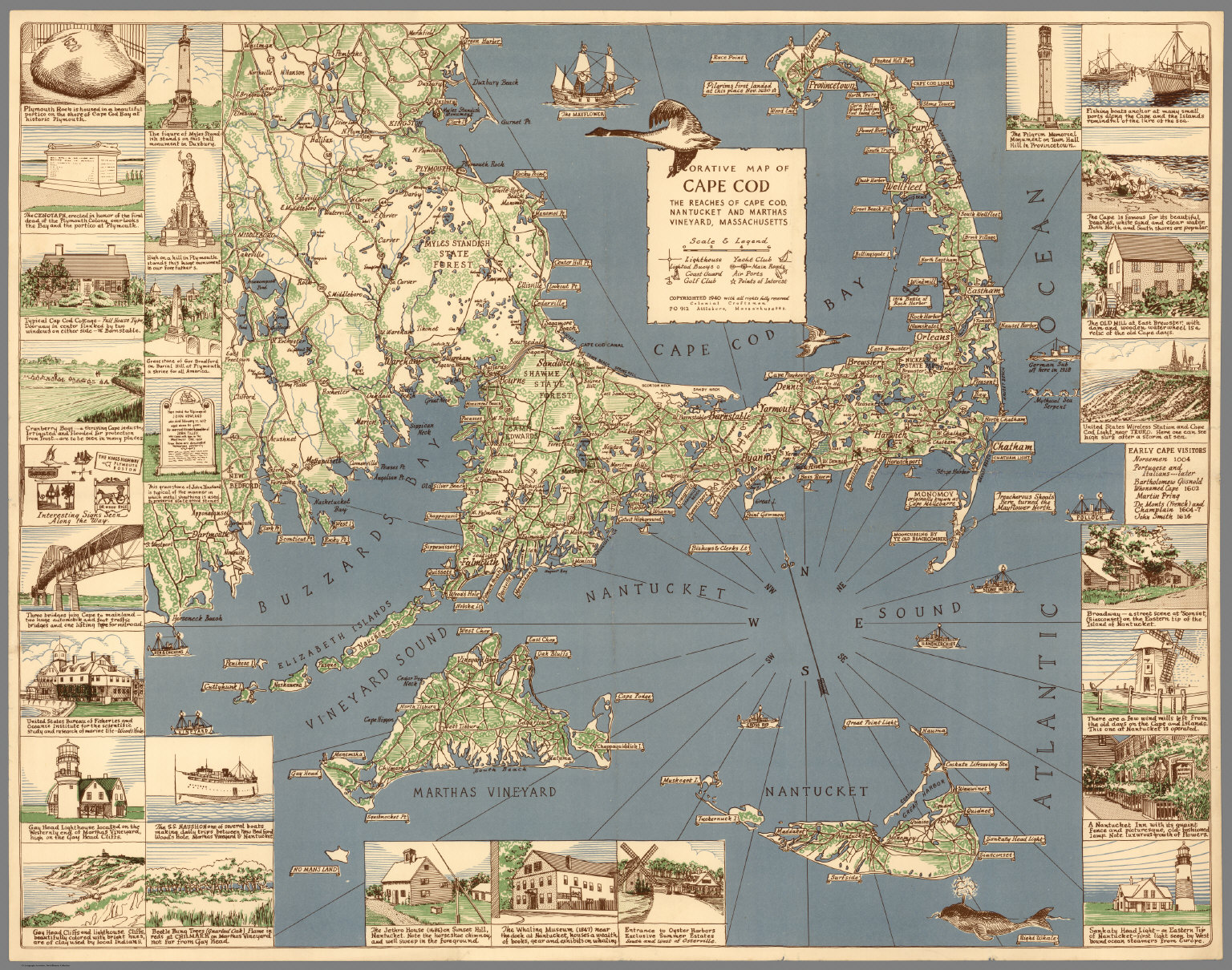 Decorative Map of Cape Cod. - David Rumsey Historical Map Collection