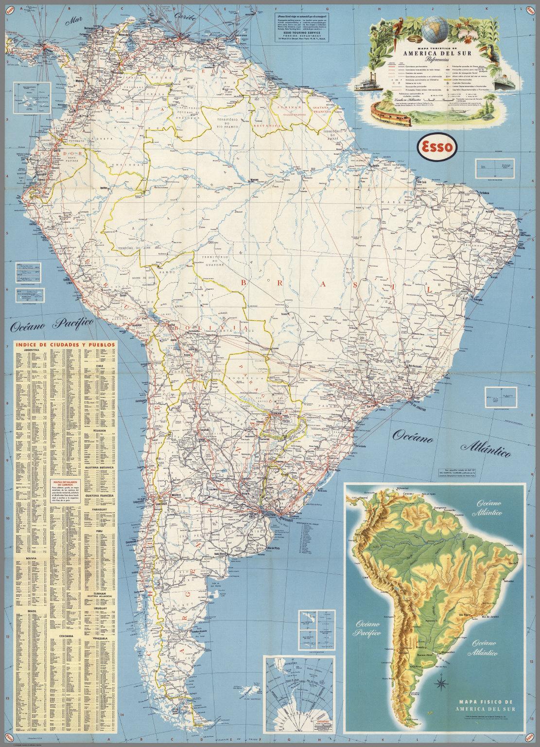 Mapa turistico de America del Sur - David Rumsey Historical Map ...
