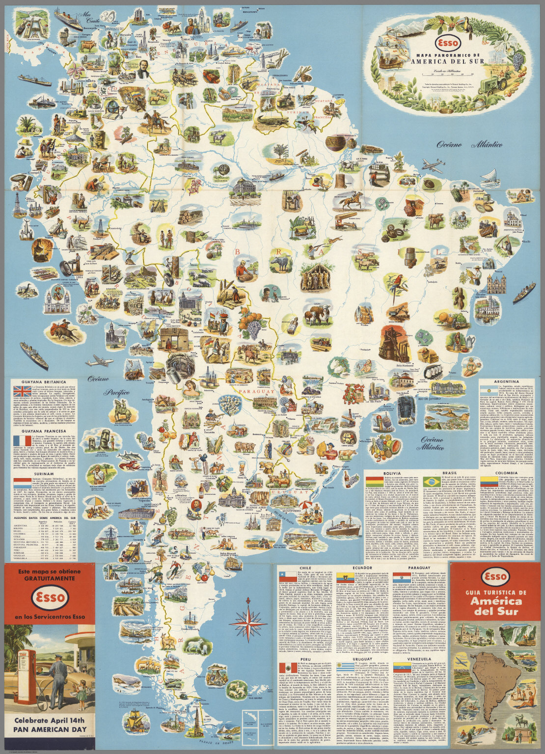 Mapa panoramico de America del Sur - David Rumsey Historical Map ...