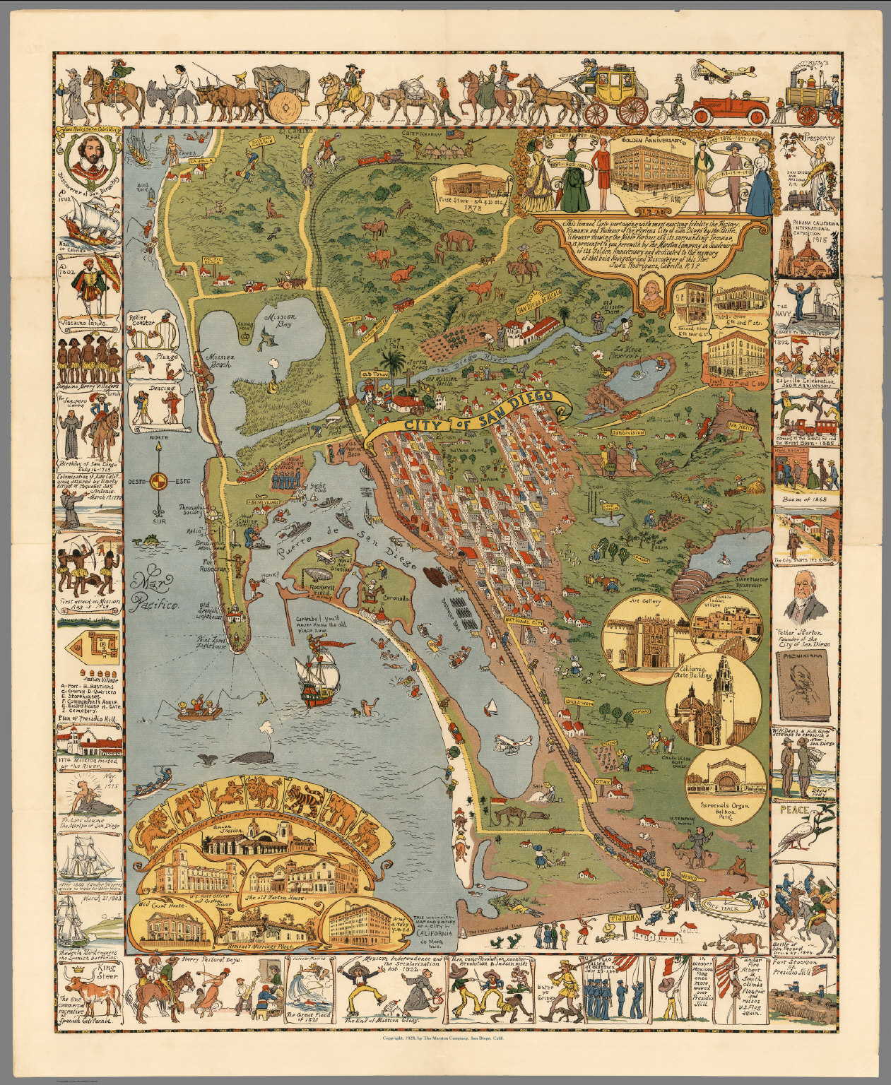 San Diego Map City.City Of San Diego David Rumsey Historical Map Collection