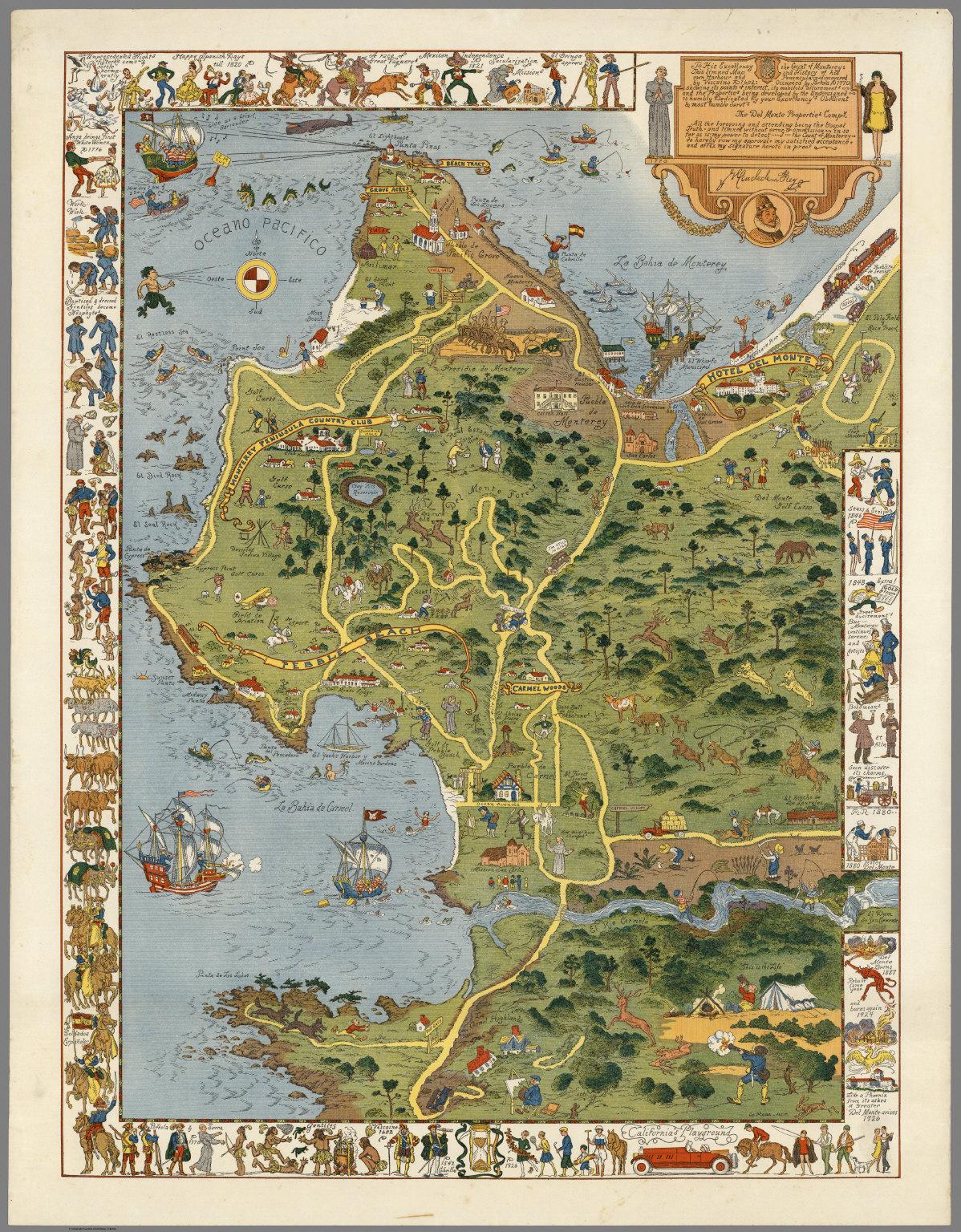 Monterey Peninsula and Del Monte Properties David Rumsey