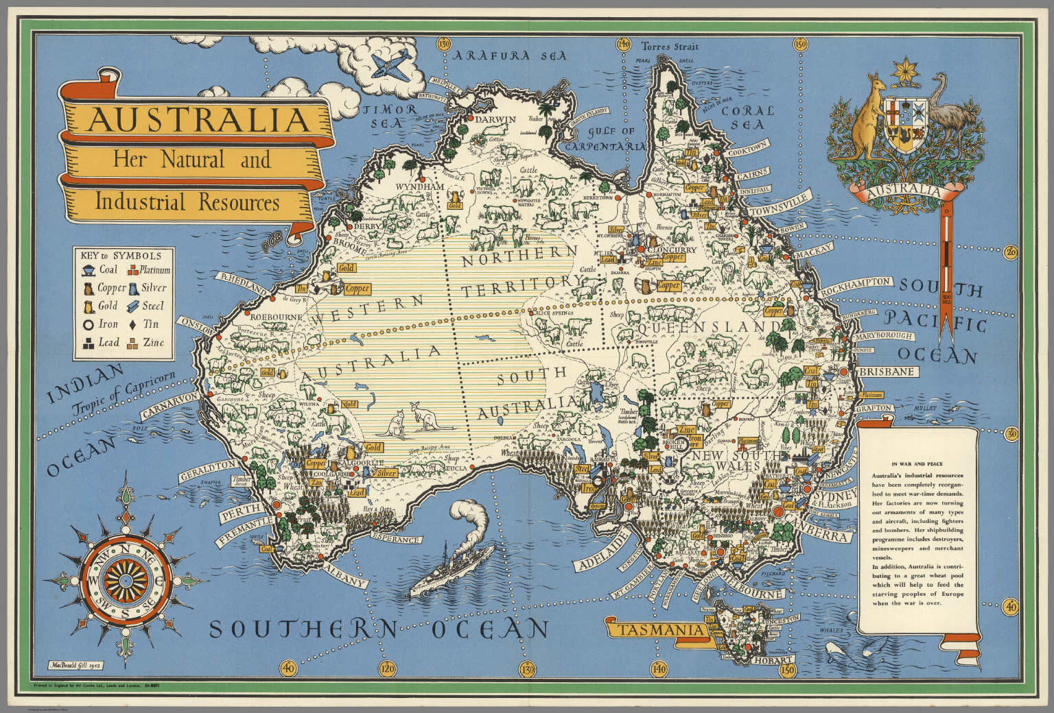 Map Of Australia To Buy.Australia Her Natural And Industrial Resources David Rumsey