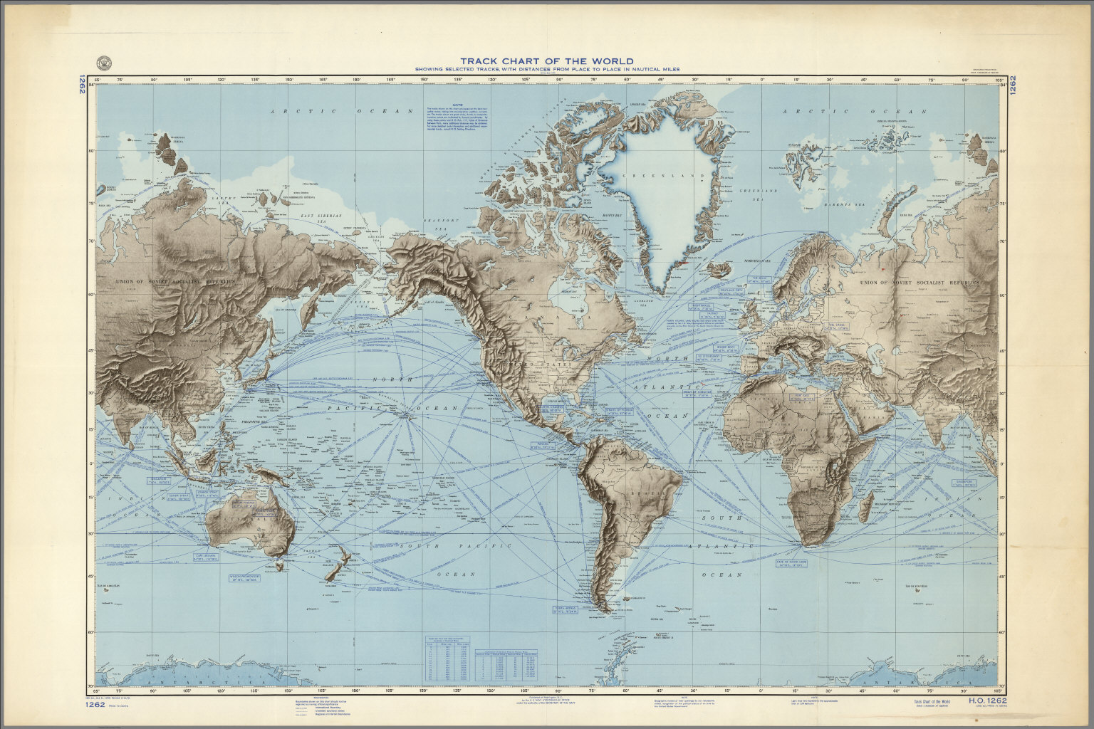 Track chart of the world david rumsey historical map collection track chart of the world gumiabroncs Image collections
