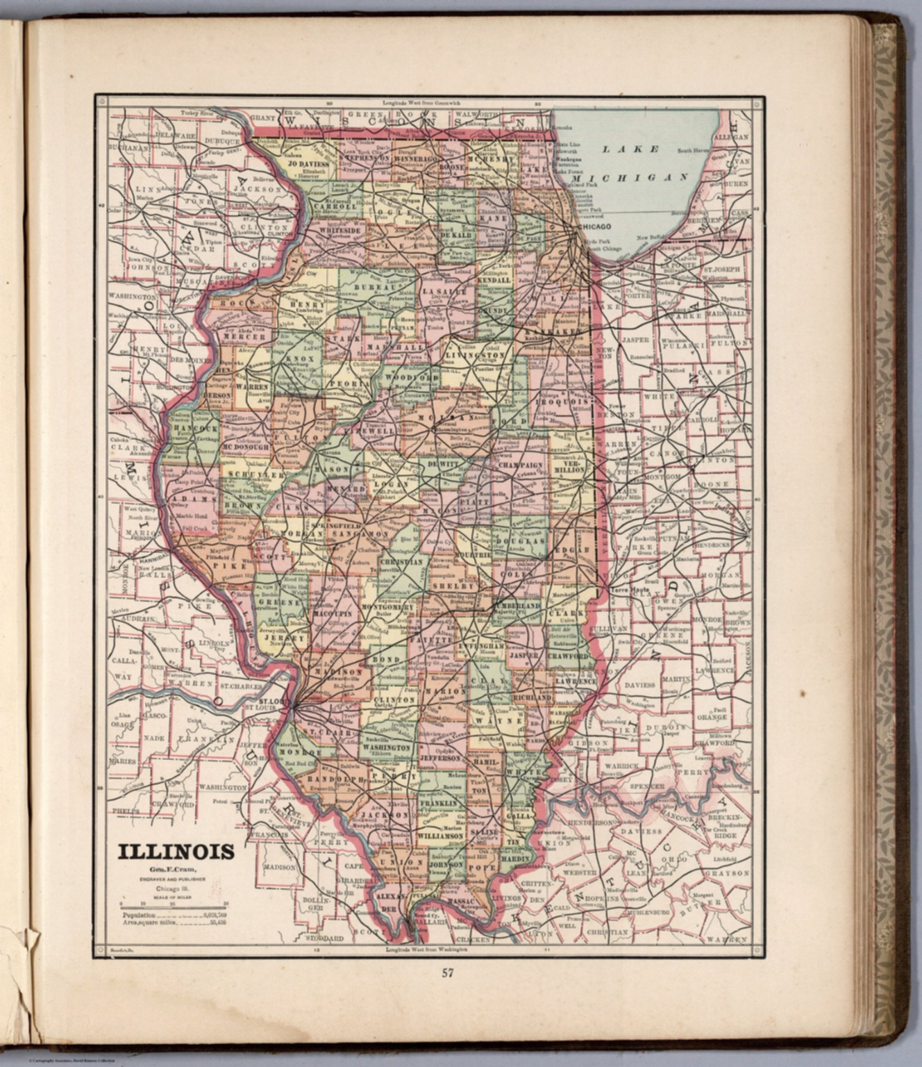 Illinois david rumsey historical map collection illinois gumiabroncs Gallery