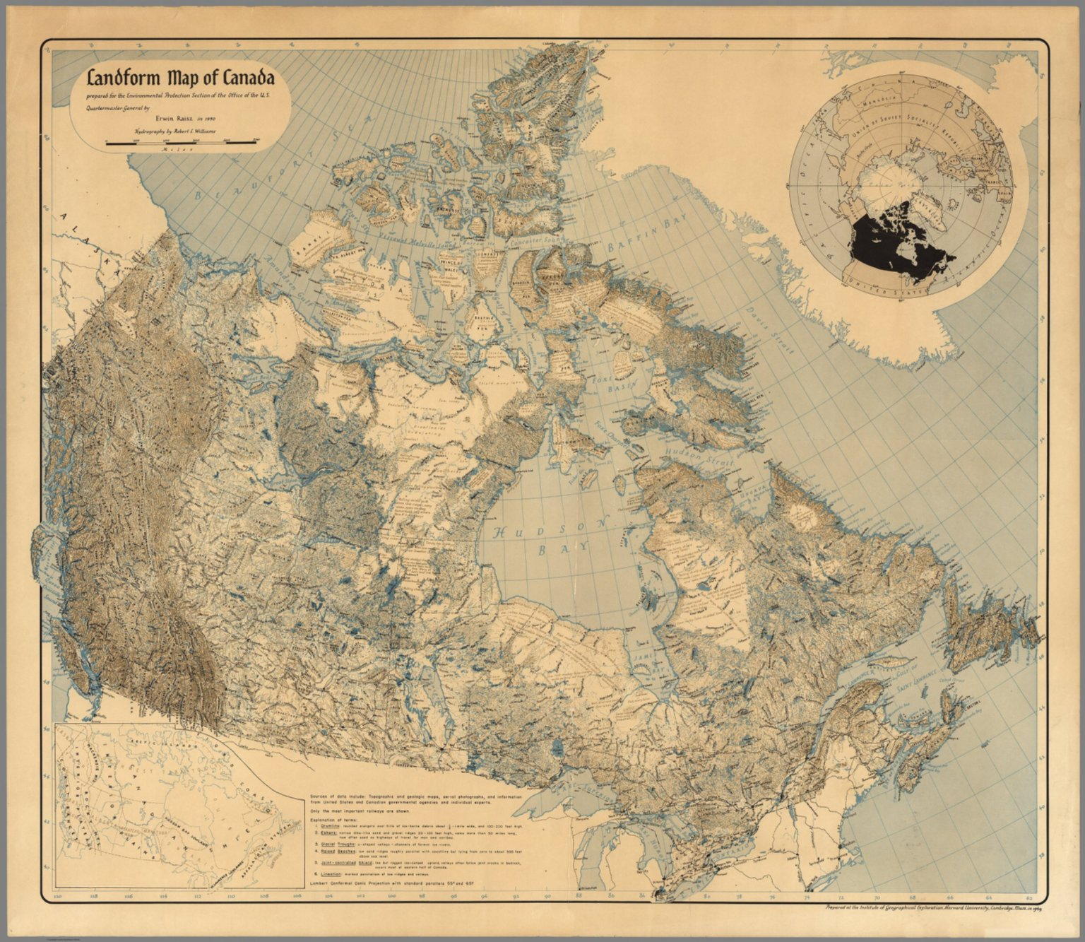 Landform Map of Canada. - David Rumsey Historical Map Collection