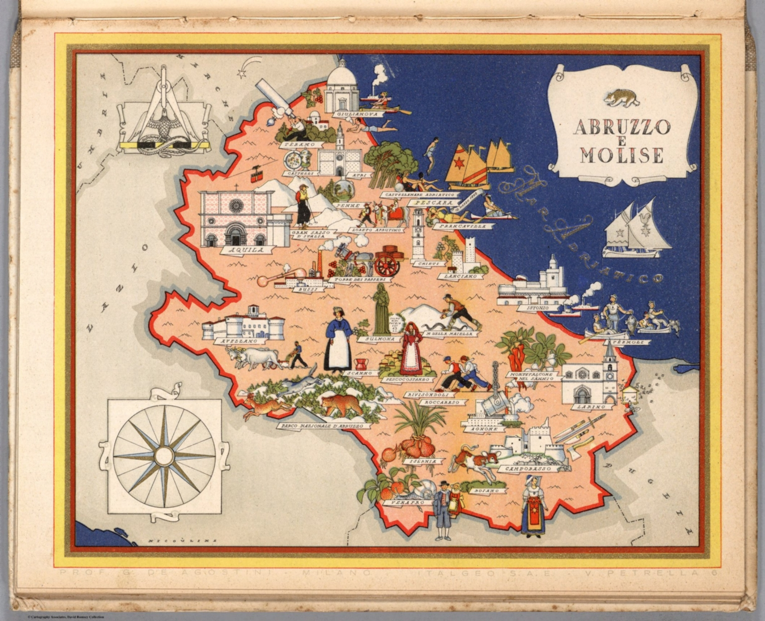 Abruzzo e Molise David Rumsey Historical Map Collection