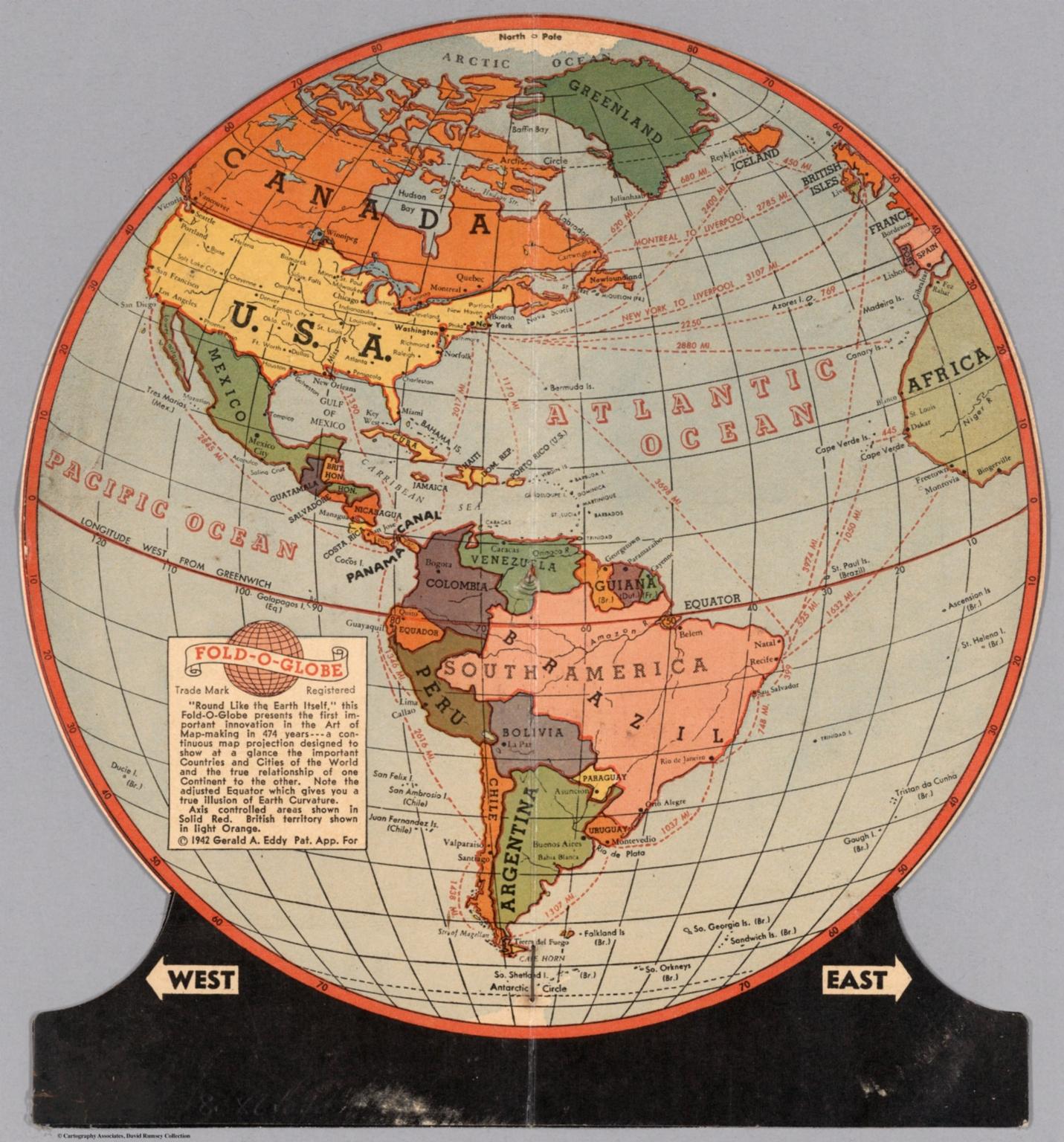 Round Globe Map.Fold O Globe Trade Mark Registered Round Like The Earth David