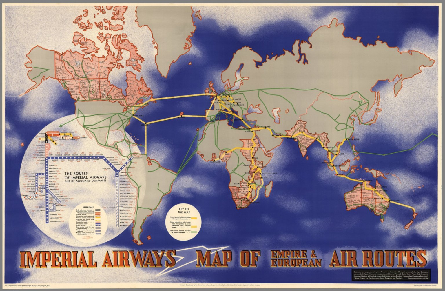Imperial airways map of empire european air routes david imperial airways map of empire european air routes gumiabroncs Image collections