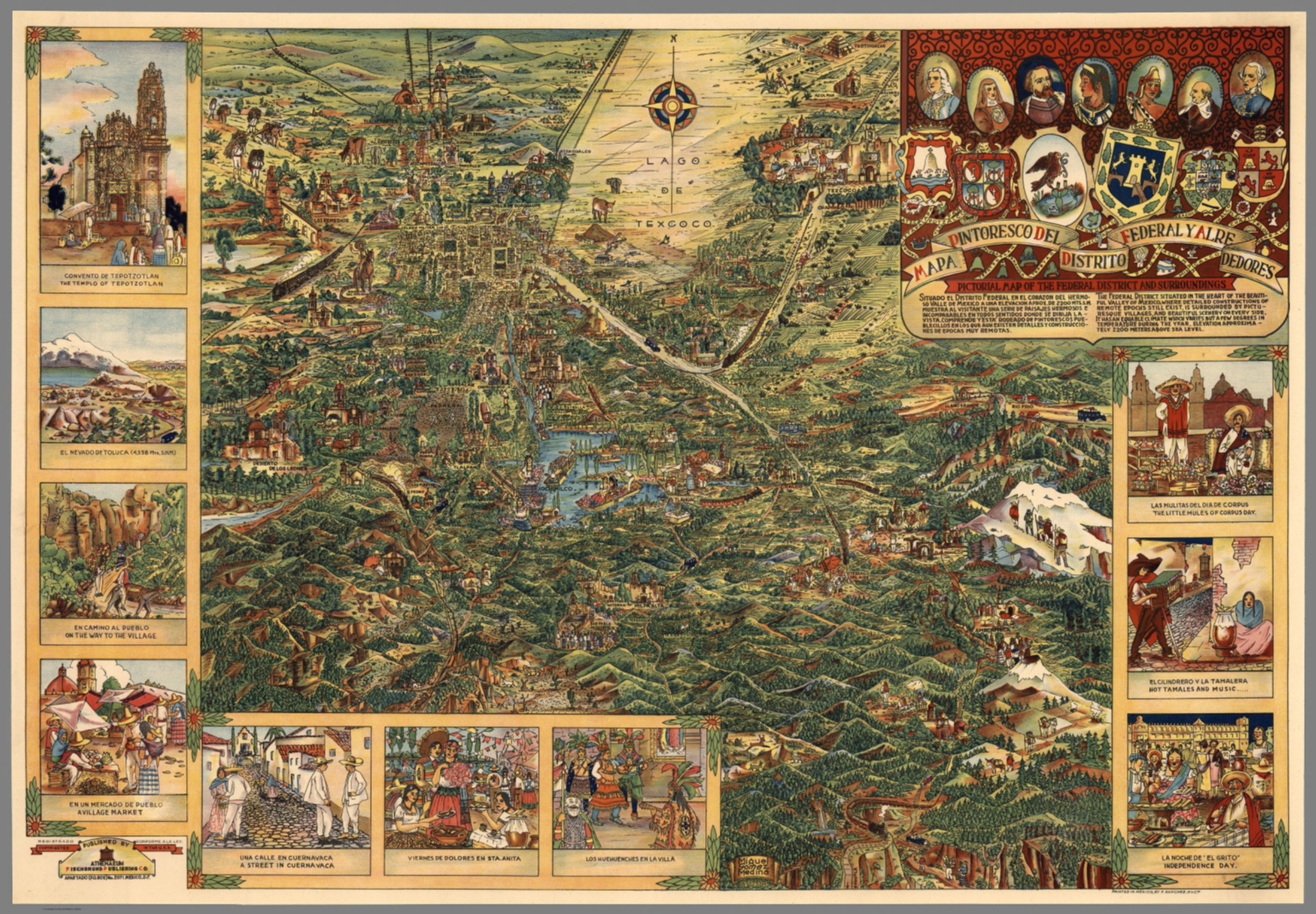 Valley Of Mexico Mexico City David Rumsey Historical Map Collection