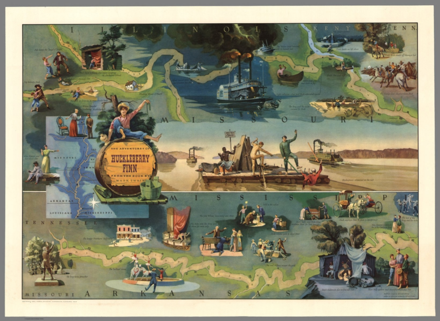 The Adventures of Huckleberry Finn from the Book by Mark Twain ...