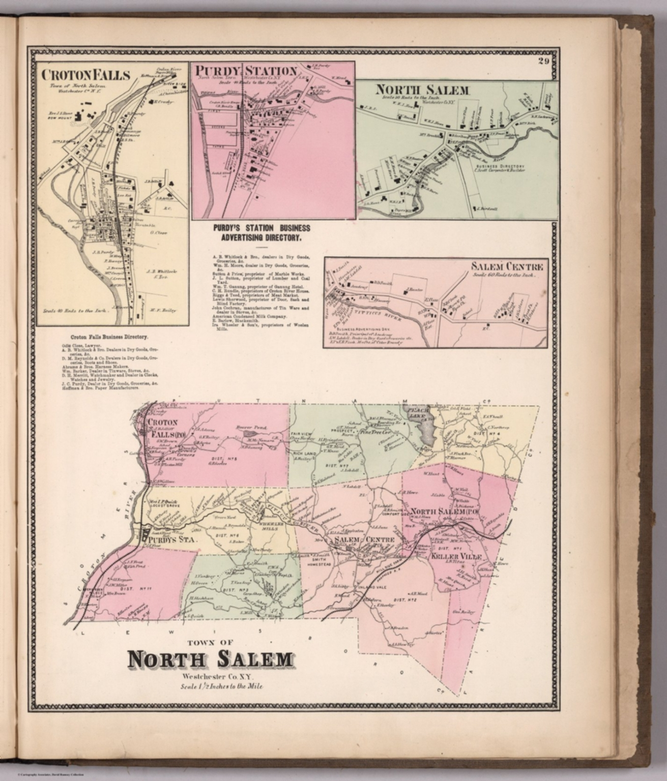 Salem New York Map.Town Of North Salem Westchester County New York Insets Croton