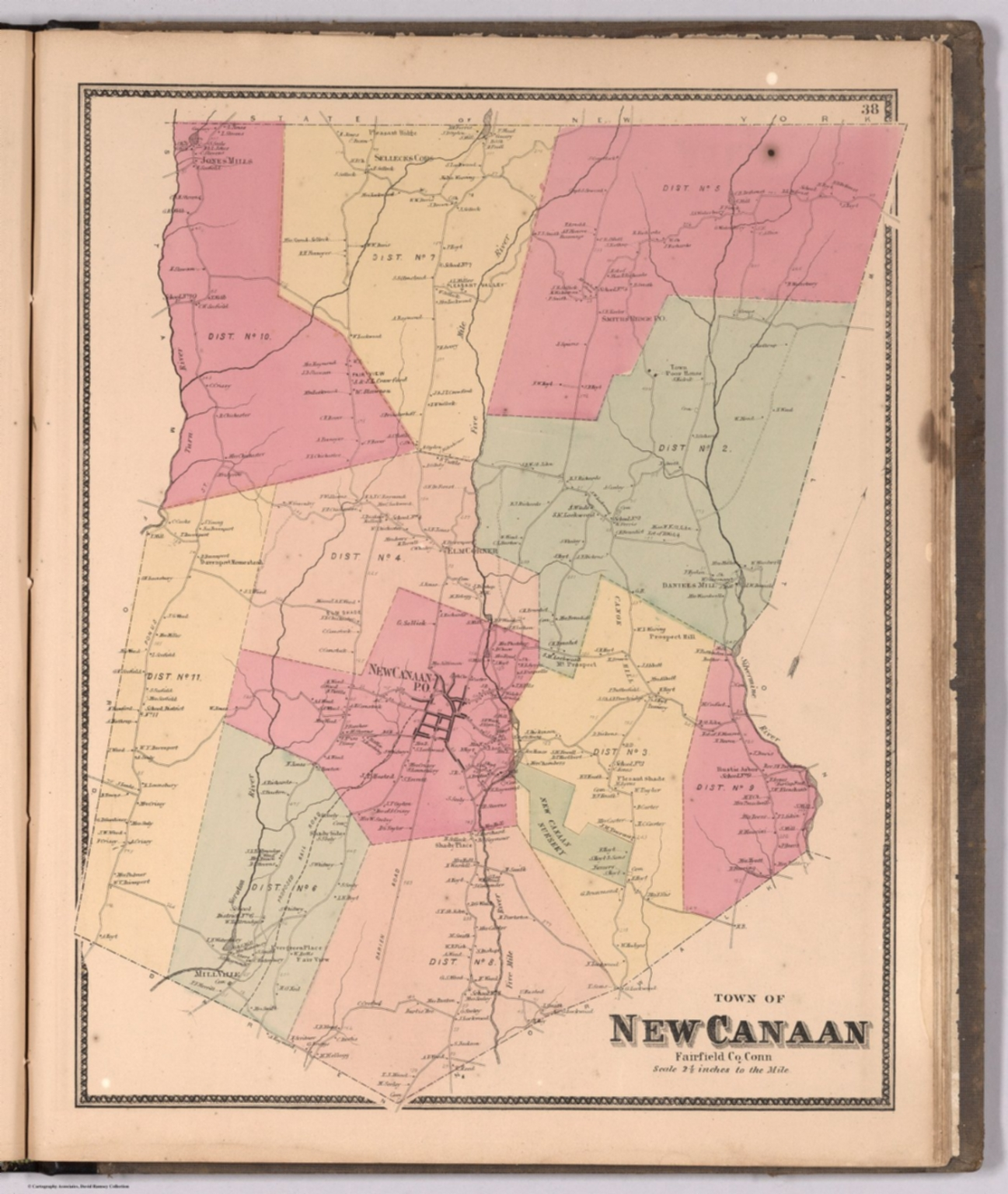 Town of New Canaan, Fairfield County, Connecticut. - David Rumsey ...