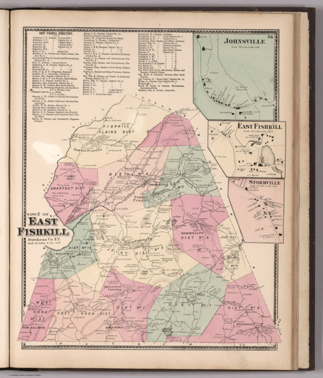 Town of East Fishkill. (insets) Johnsville. East Fishkill ... Old Map Of Snyder County on old maps of columbia county, old schools in st. croix county wi, old texas state map,