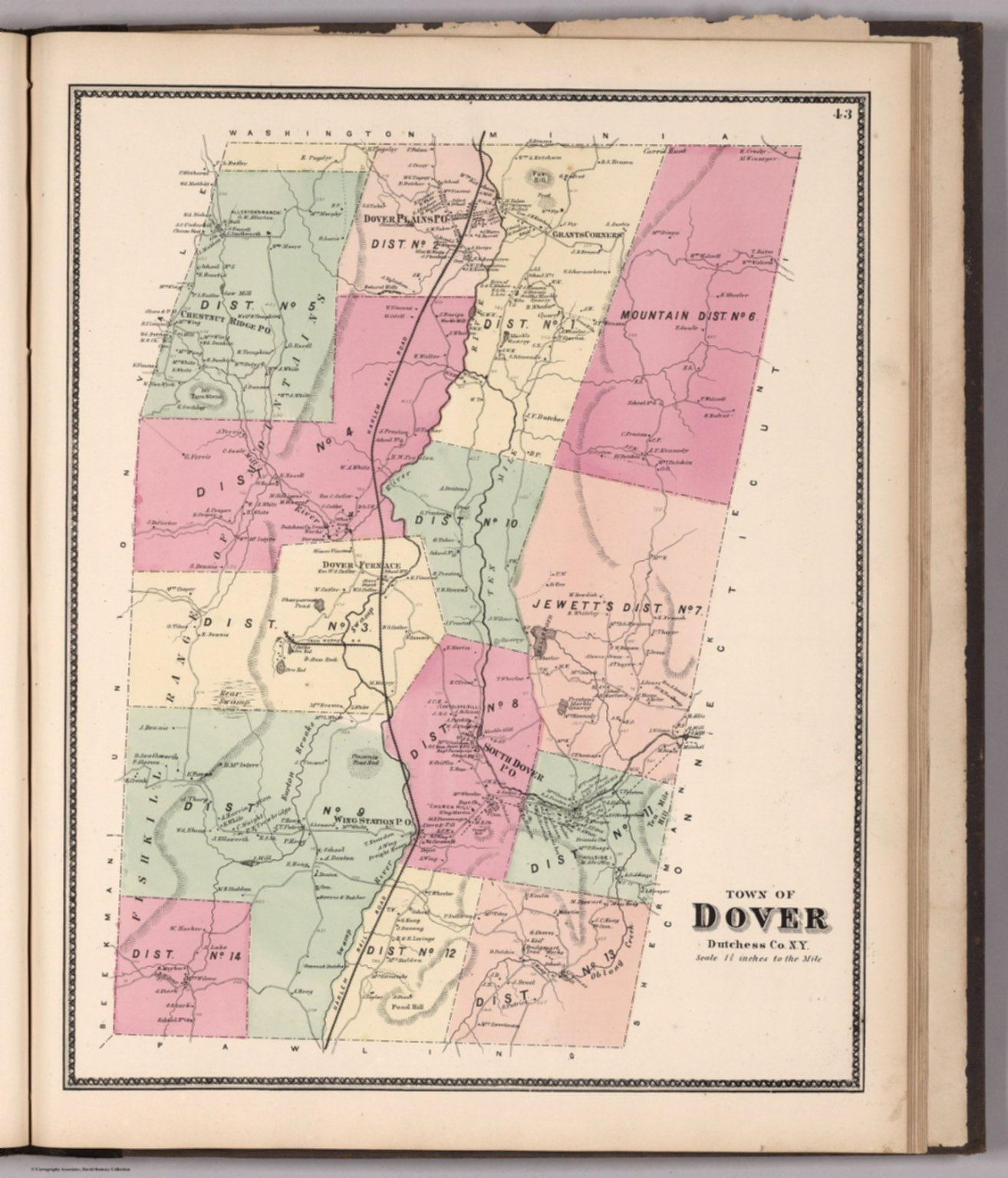 Town of Dover, Dutchess County, New York. - David Rumsey Historical ...