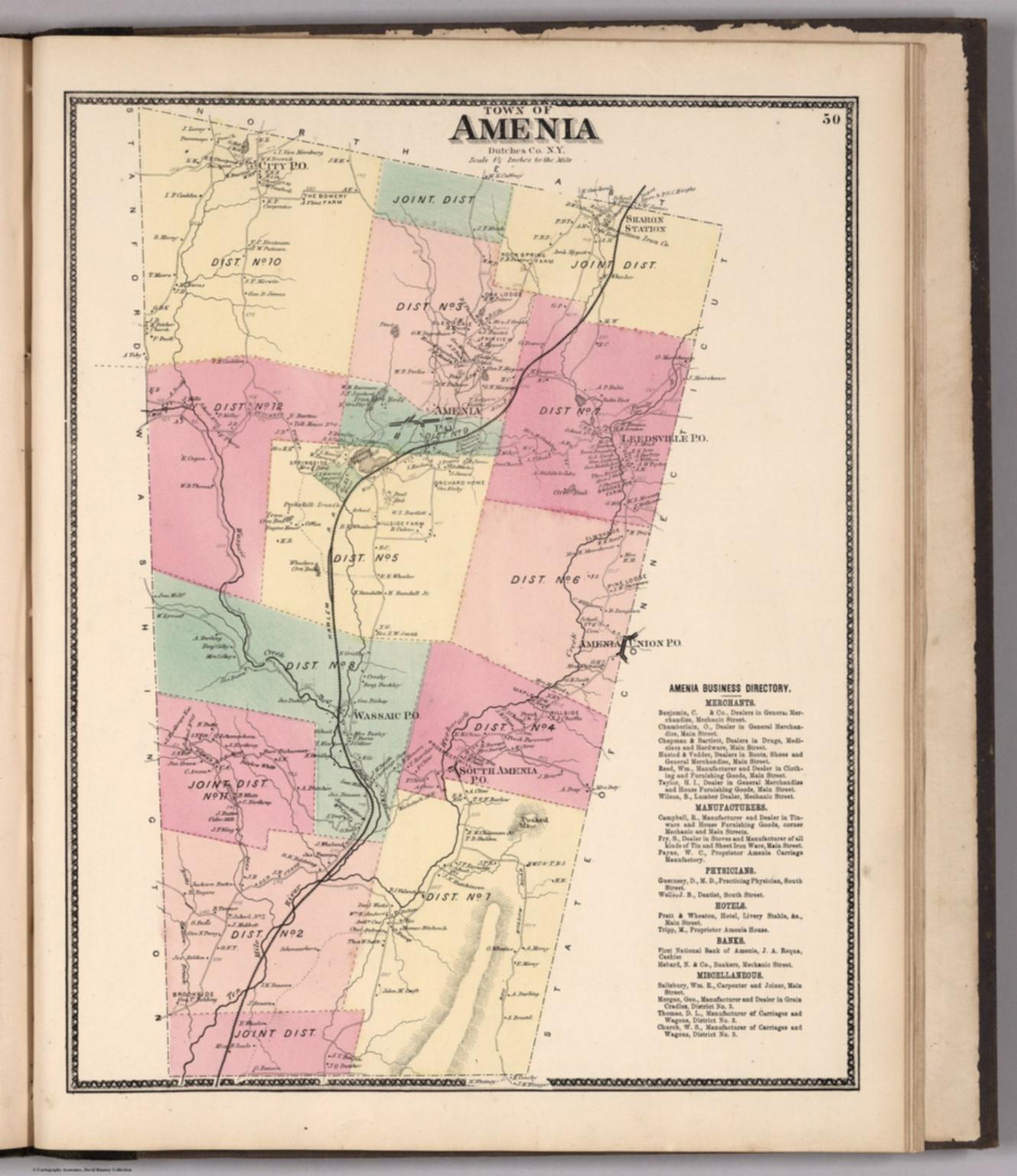 Town of Amenia, Dutchess County, New York. - David Rumsey Historical ...