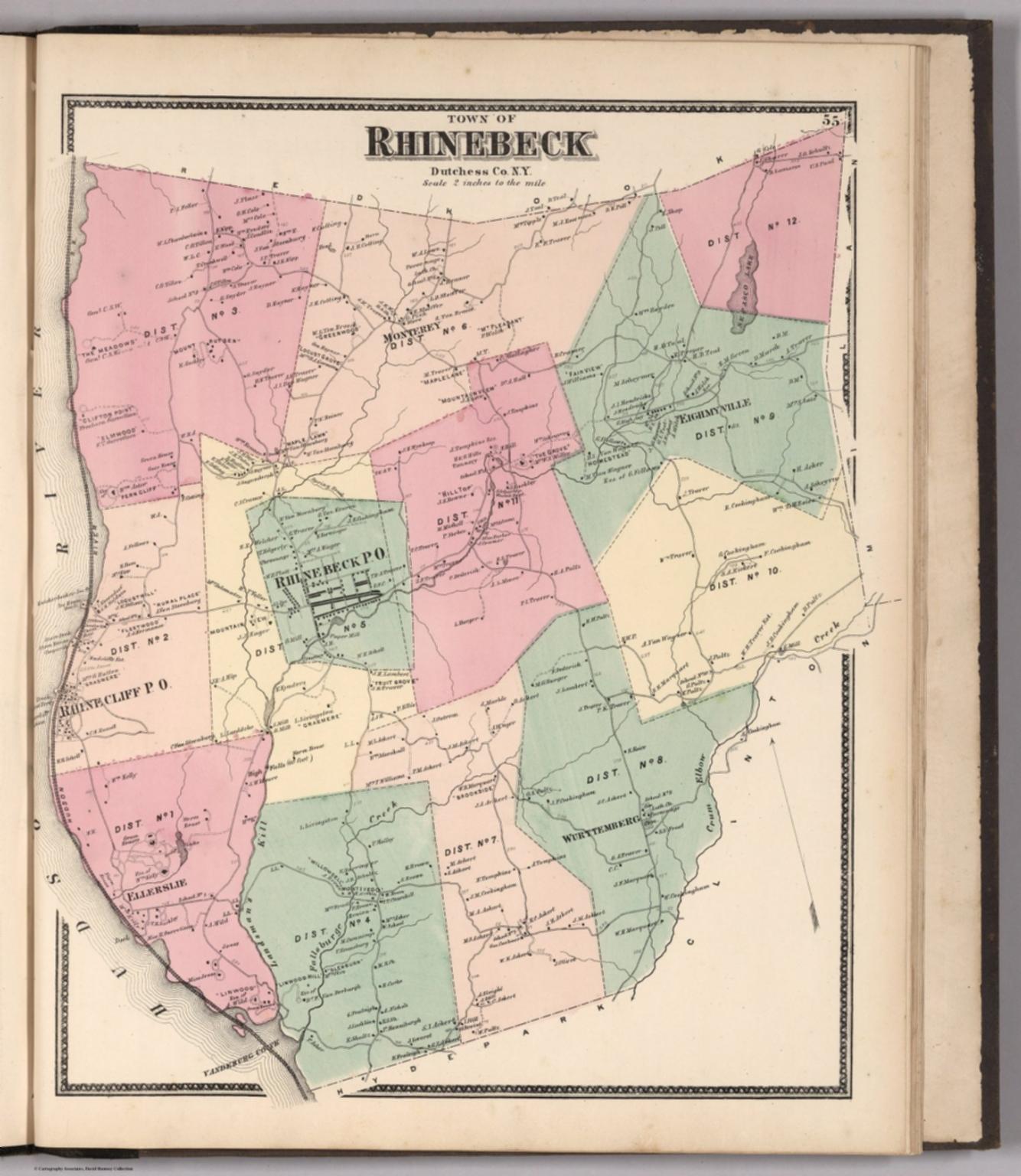 Town of Rhinebeck, Dutchess County, New York. - David Rumsey ...
