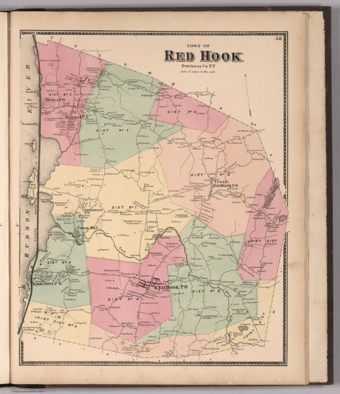 Town of Red Hook, Dutchess County, New York. - David Rumsey ...