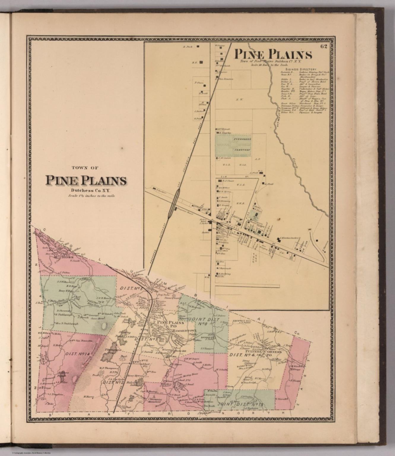 Town of Pine Plains, Dutchess County, New York. (inset) Pine Plains ...