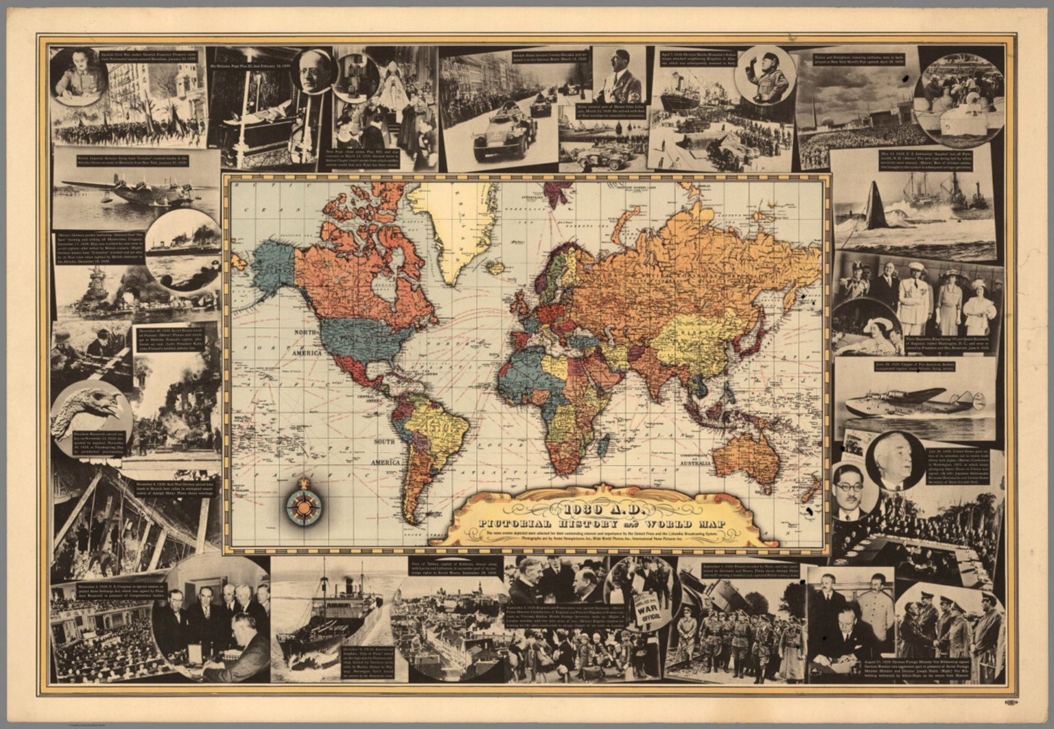 1939 A.D. Pictorial history and world map - David Rumsey ...