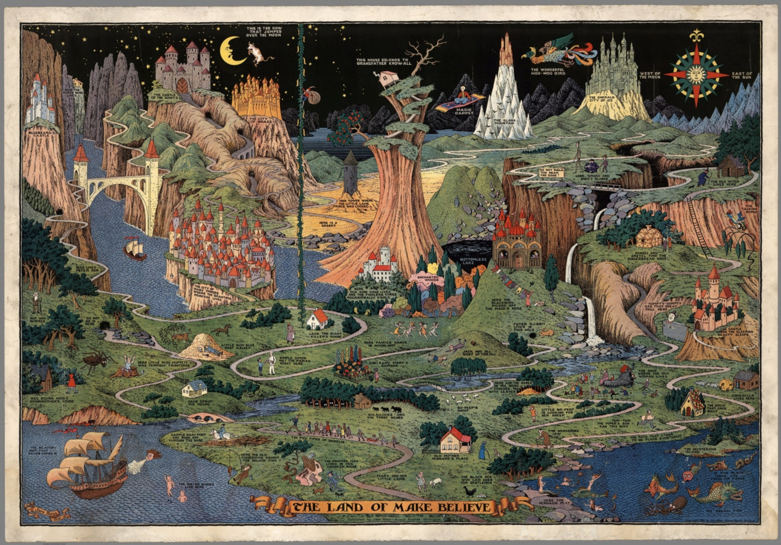 The Land Of Make Believe Published By Jaro Hess 1930 David Rumsey Historical Map Collection