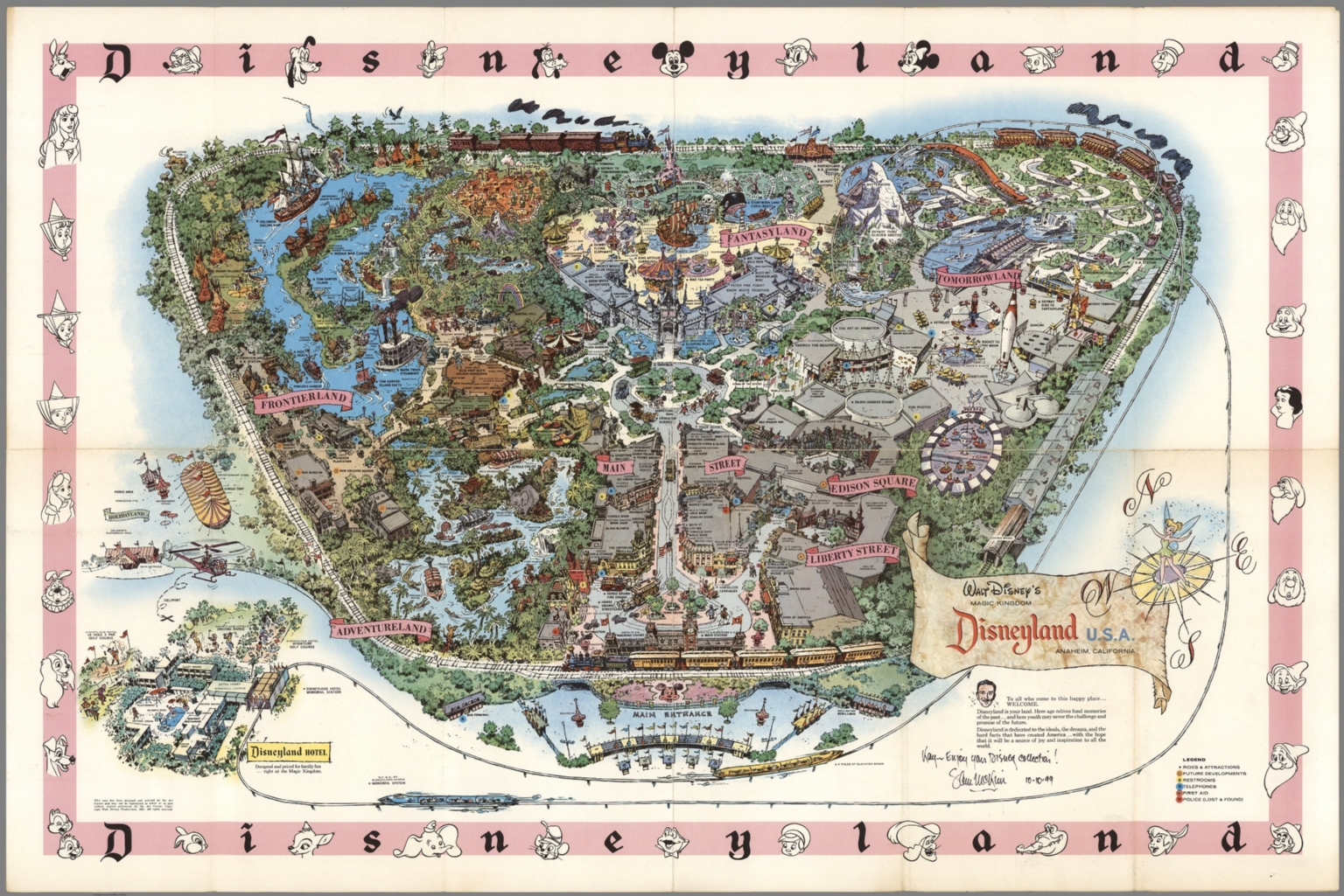Map Of California Disney.Walt Disney S Magic Kingdom Disneyland U S A Anaheim California