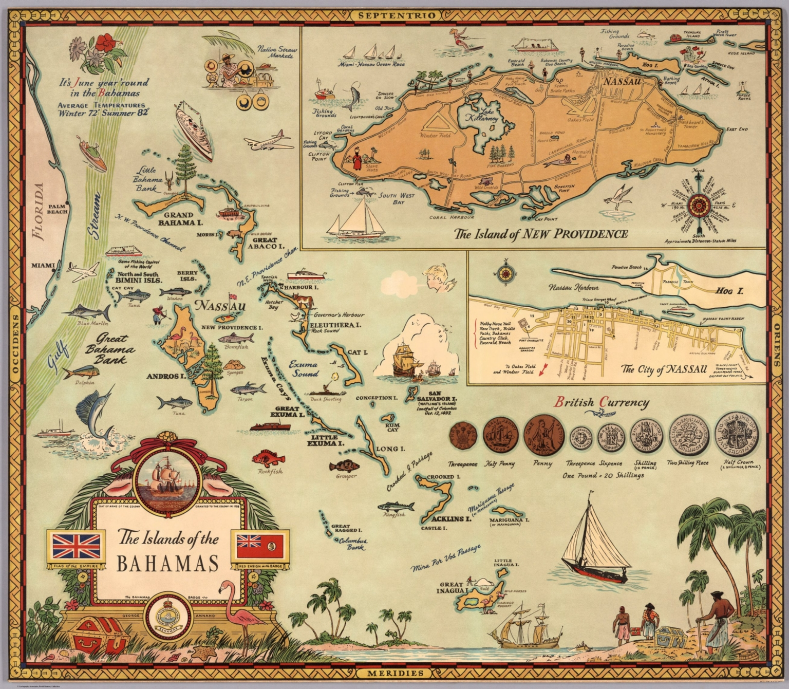 The Islands of the Bahamas. George Annand - David Rumsey Historical ...