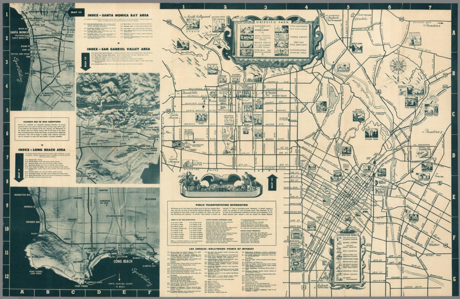 Santa Monica Bay Area San Gabriel Valley Area David Rumsey