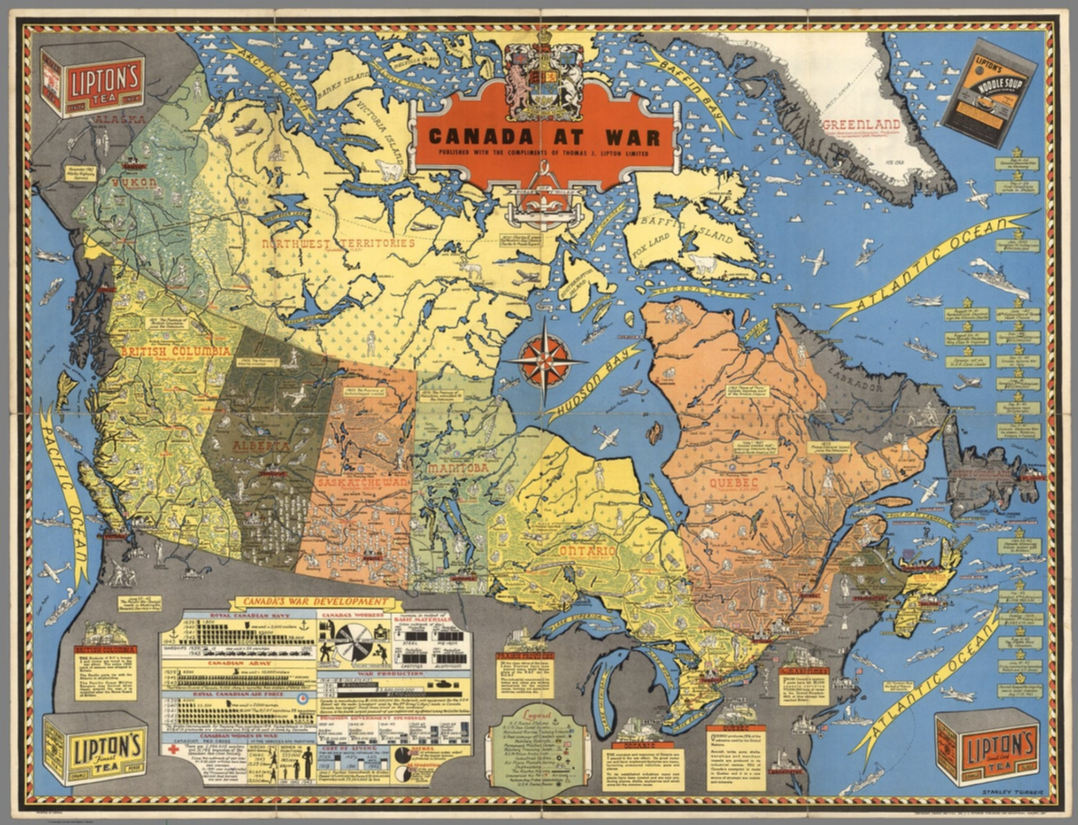Complete Map Of Canada.Canada At War Stanley Turner David Rumsey Historical Map Collection
