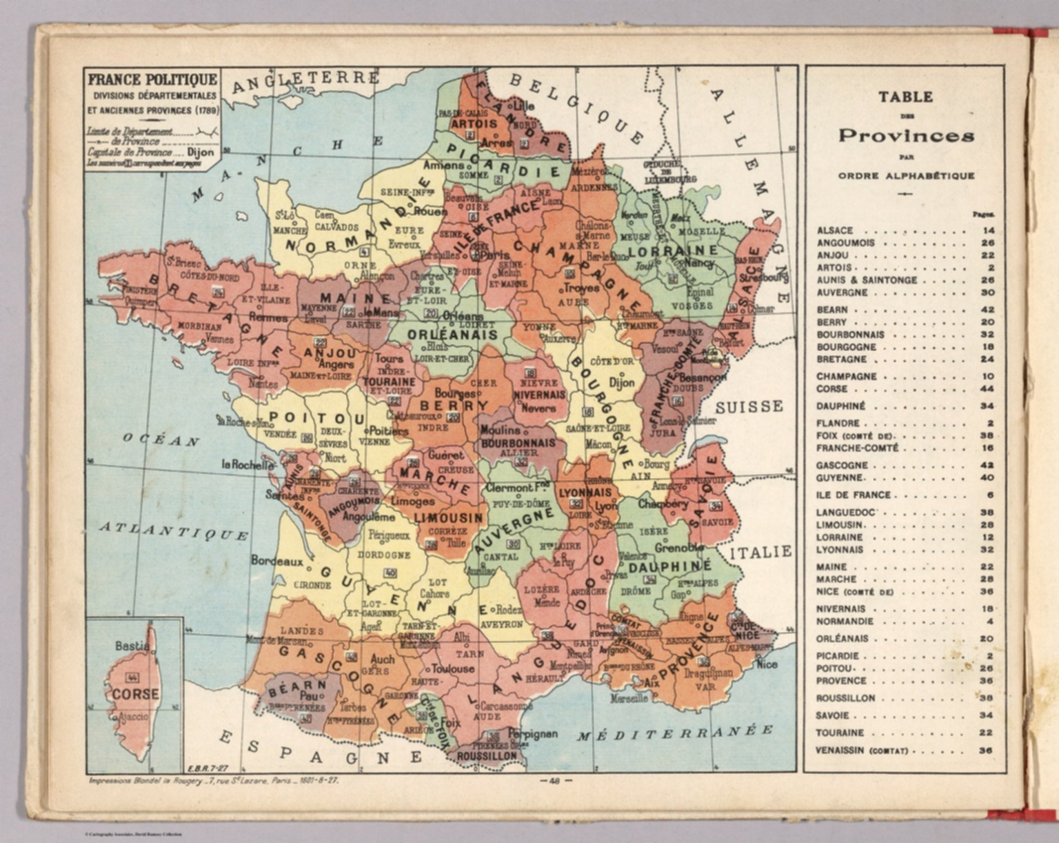 Map Of France In 1789.France Politique Divisions Departementales Et Anciennes Provinces