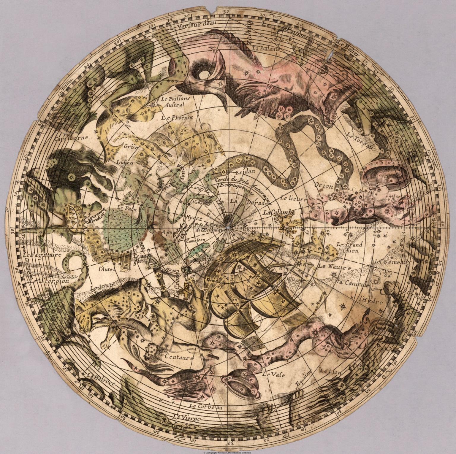 Circular planisphere