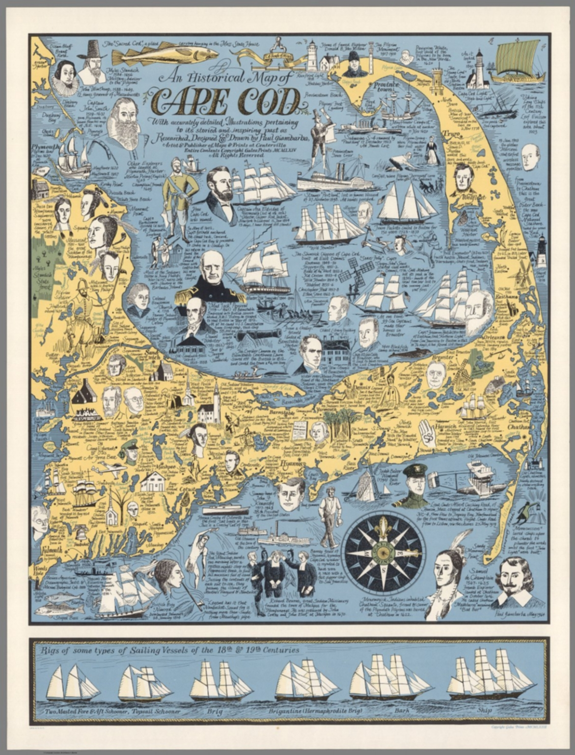 picture about Printable Map of Cape Cod named An historic map of Cape Cod - David Rumsey Historic Map