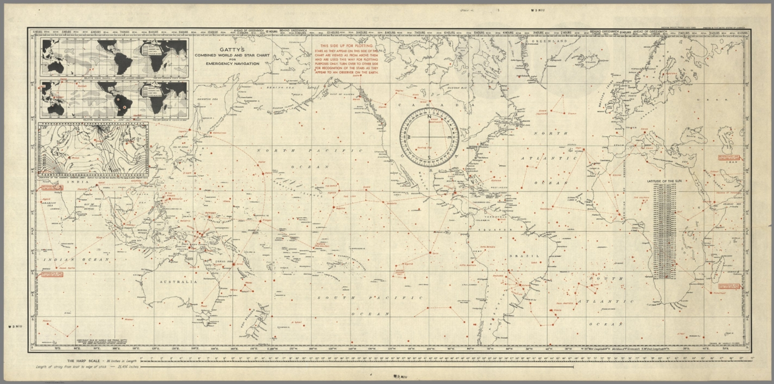 Gattys combined world and star chart for emergency navigation gattys combined world and star chart for emergency navigation david rumsey historical map collection gumiabroncs Images