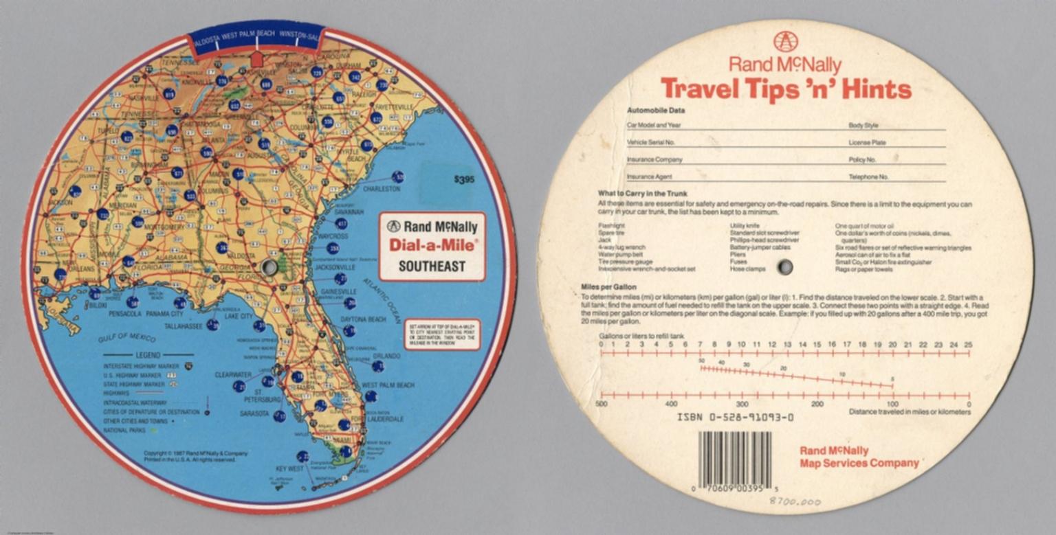 Rand McNally Dial-a-Mile Southeast. Rand McNally Travel Tips 'n' Hints