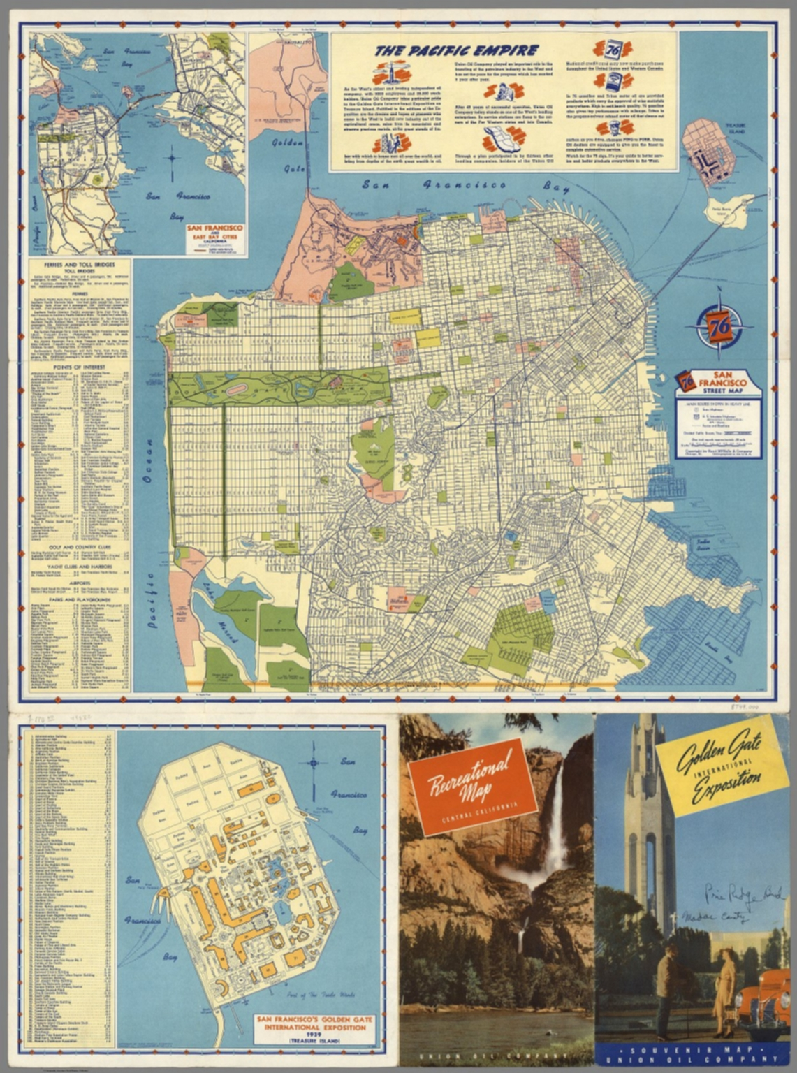 San Francisco Street Map The Pacific Empire Golden Gate