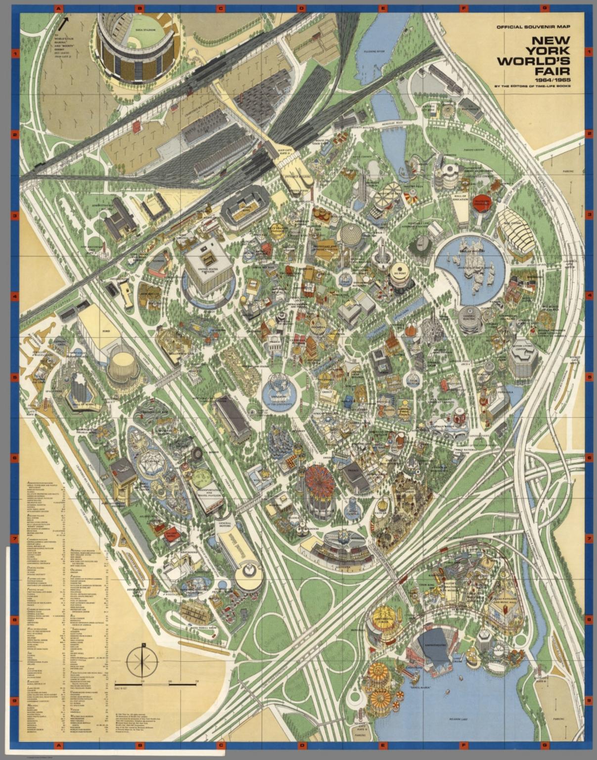 New York World\'s Fair Official Detailed Map 1964-1965 | eBay