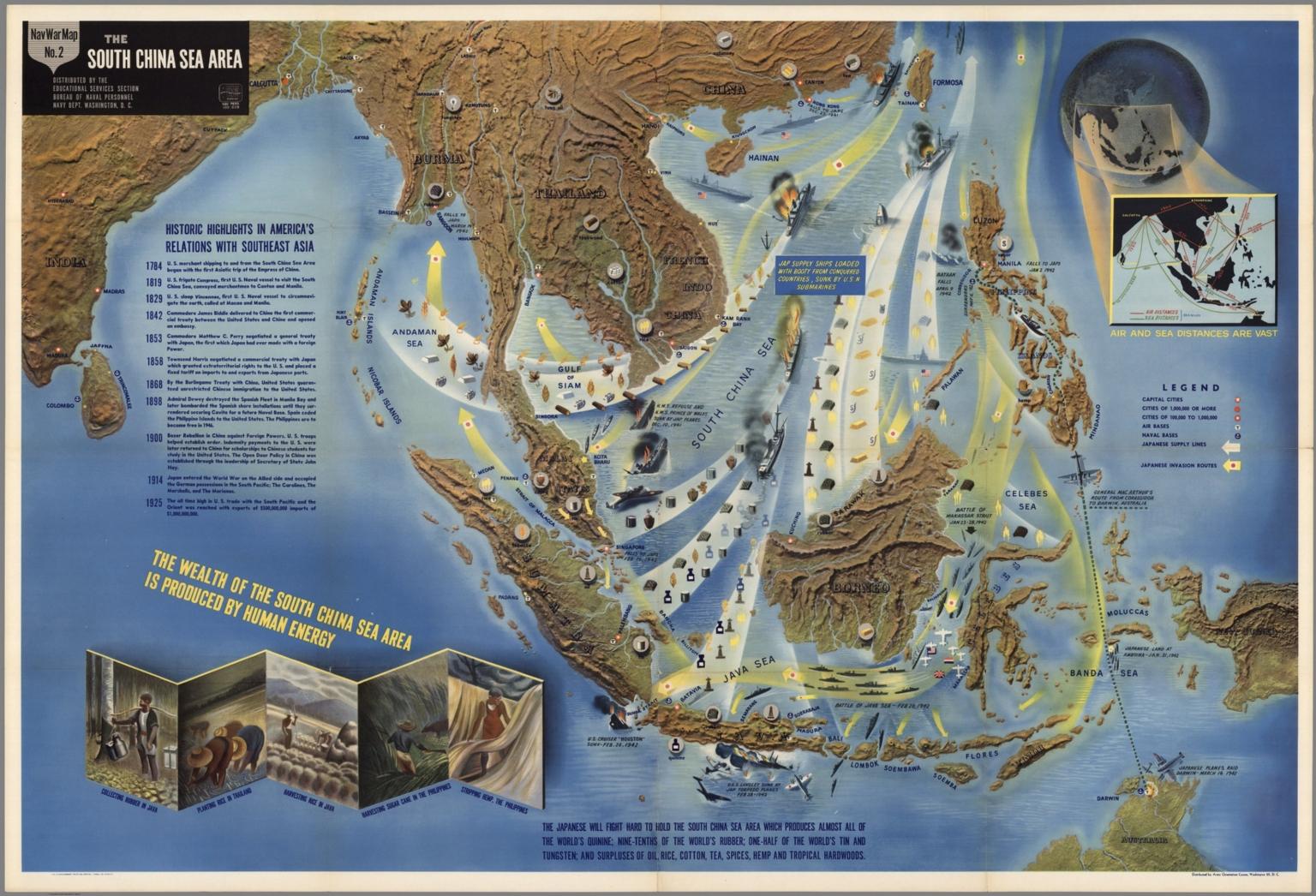 NavWarMap No. 2. The South China Sea Area.