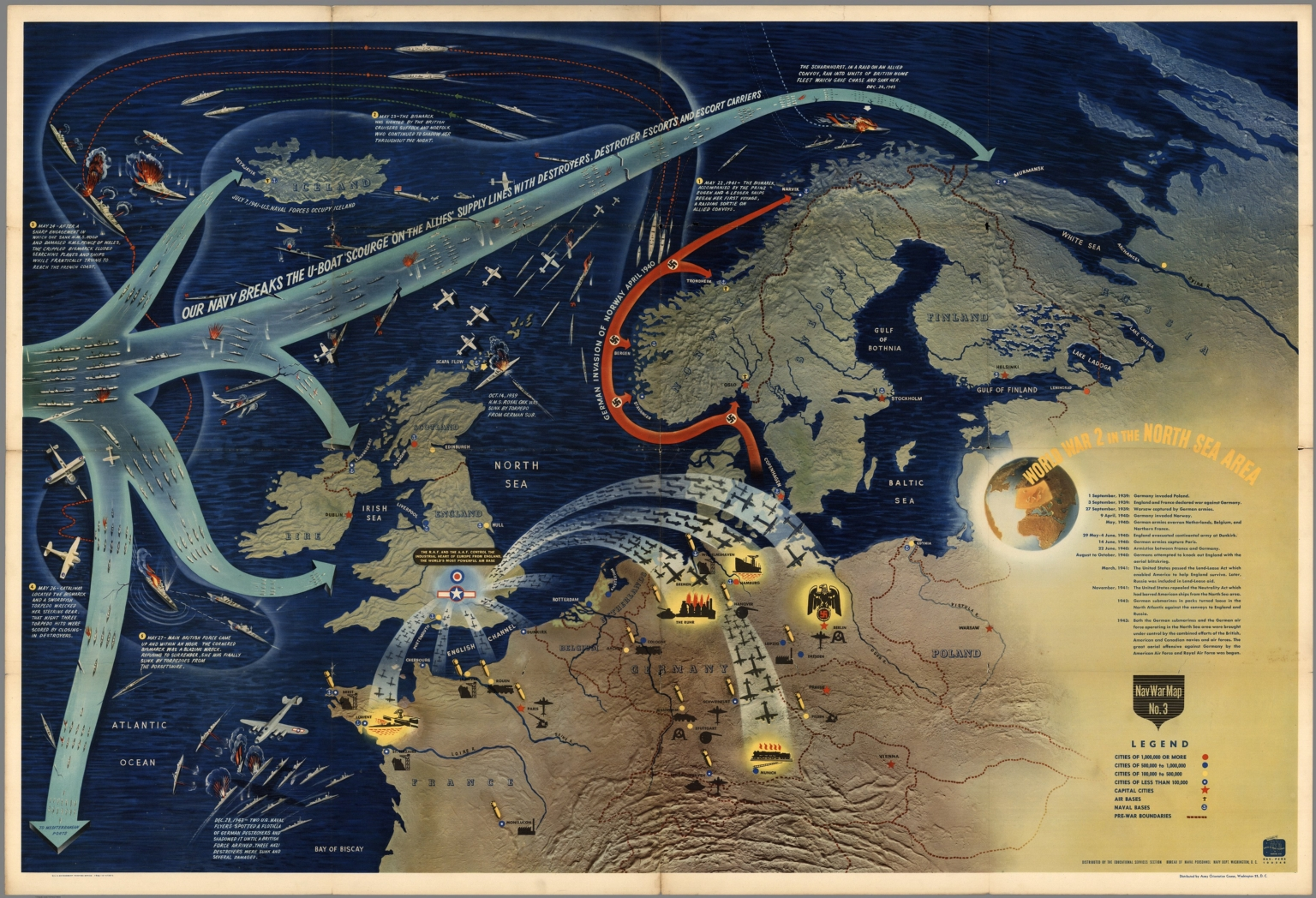 Navwarmap no3 world war 2 in the north sea area david rumsey world war 2 in the north sea area gumiabroncs Image collections