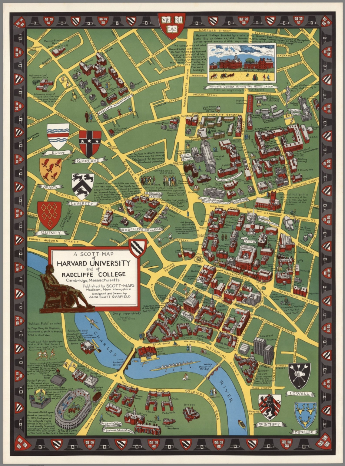 A ScottMap of Harvard University and of Radcliffe College