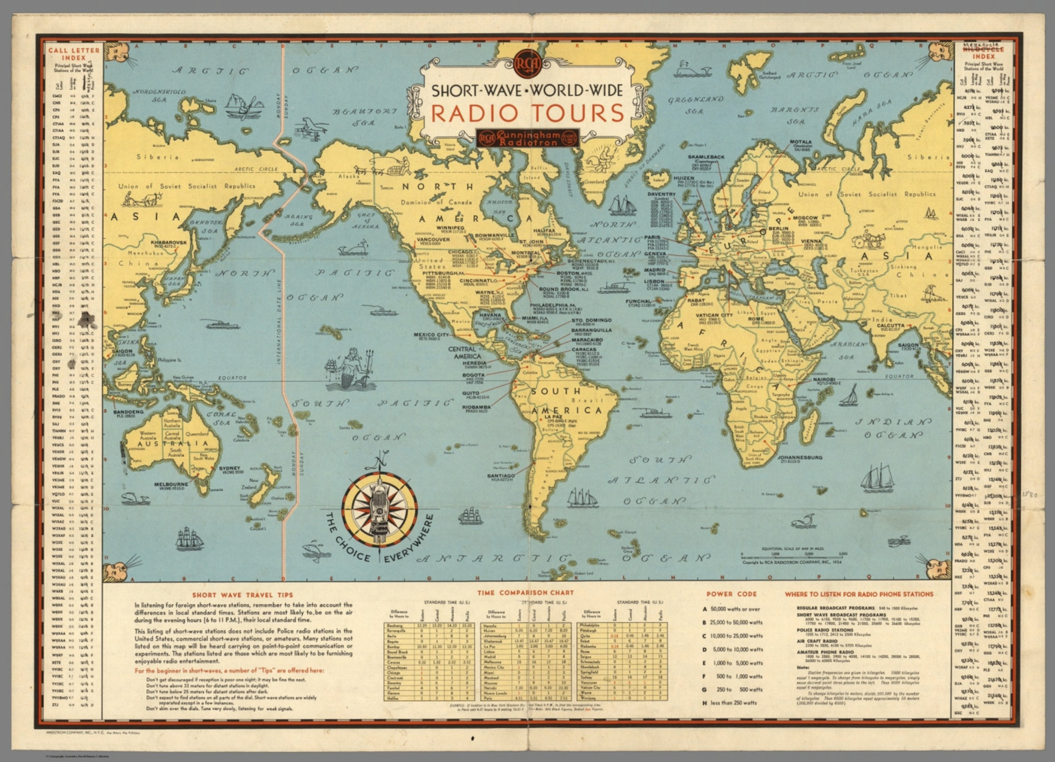 Short wave world wide radio tours david rumsey historical map short wave world wide radio tours gumiabroncs Images